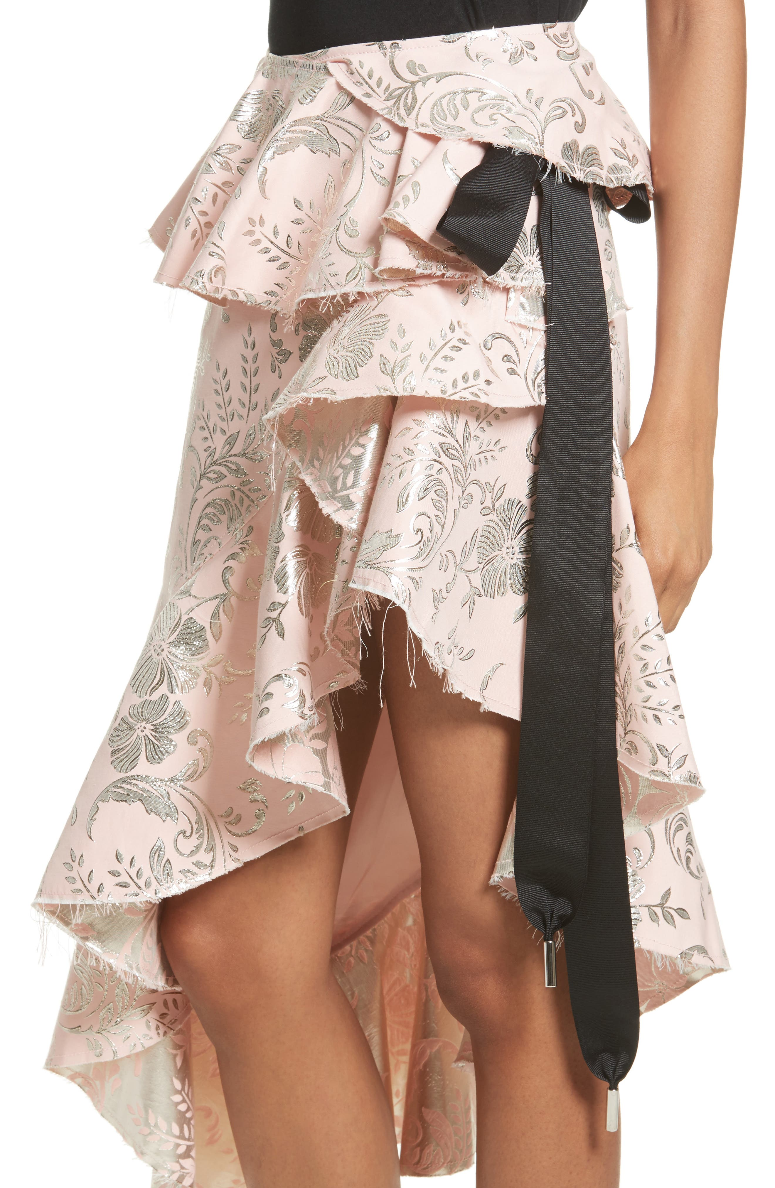 Alternate Image 5  - Marques'Almeida Asymmetrical Frilled Brocade Skirt