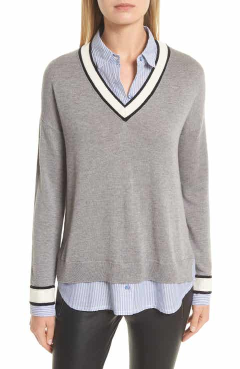 Joie Belva Layered Look Sweater