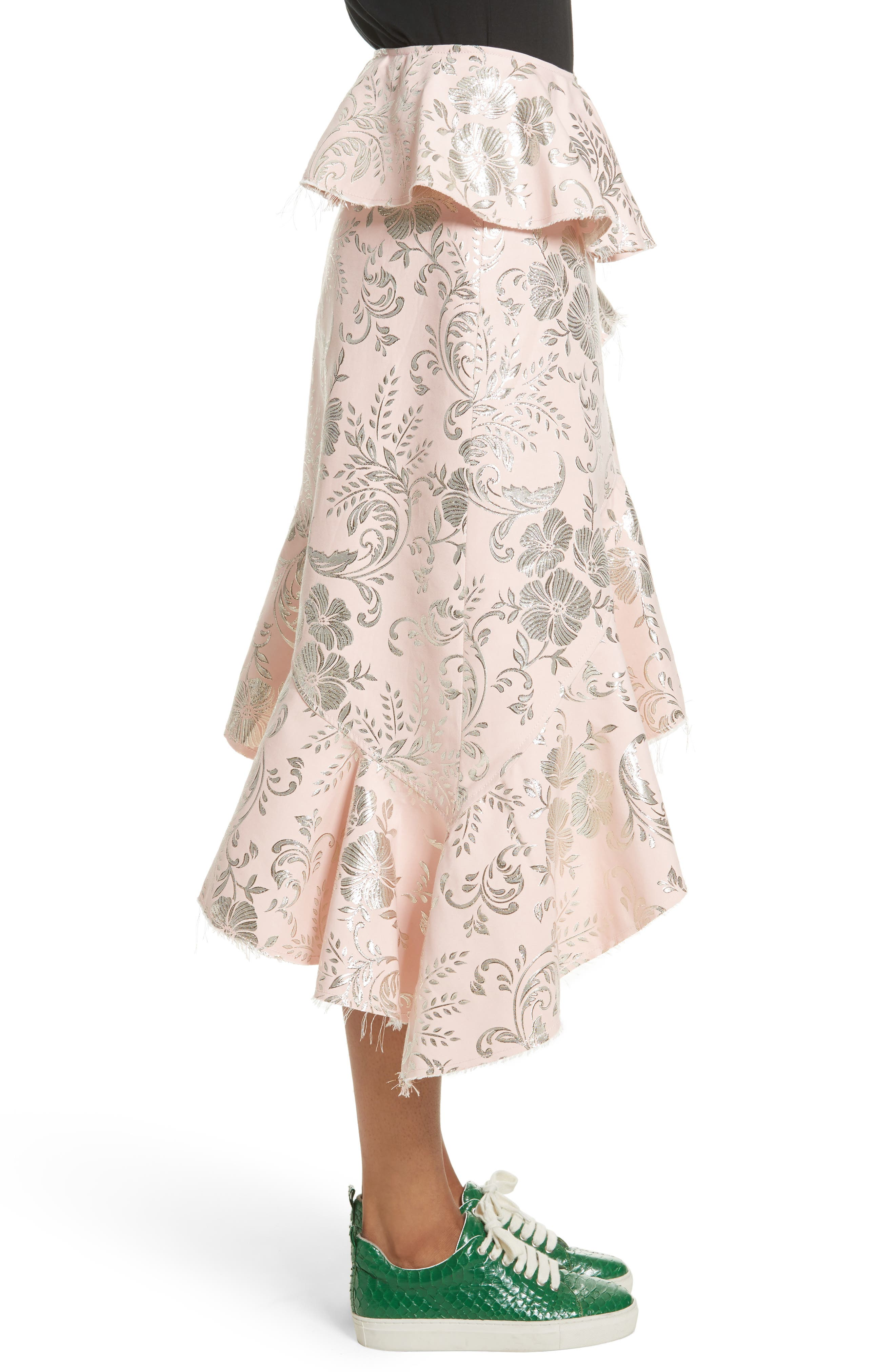 Alternate Image 4  - Marques'Almeida Asymmetrical Frilled Brocade Skirt