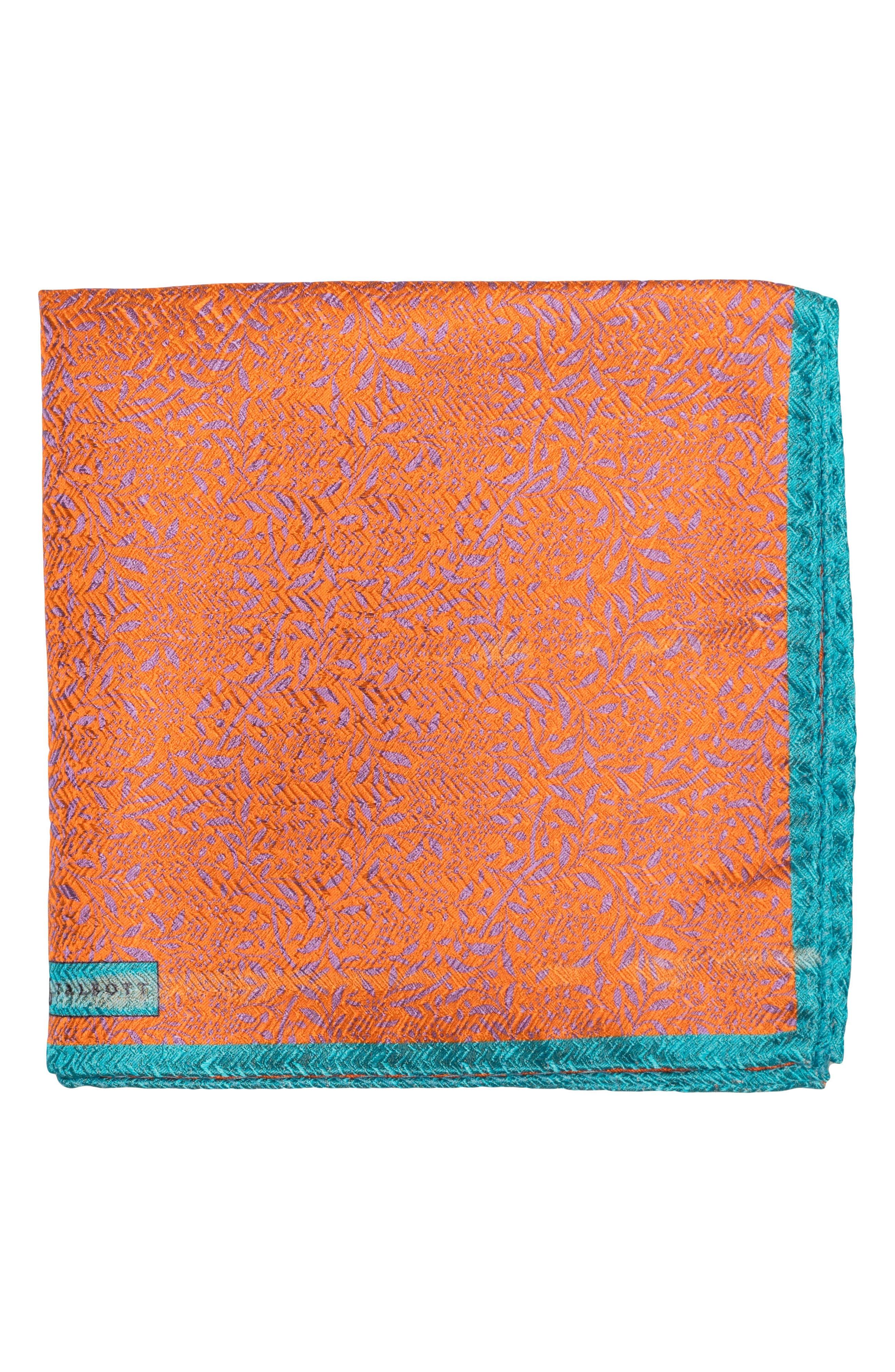 Robert Talbott Floral Silk Pocket Square