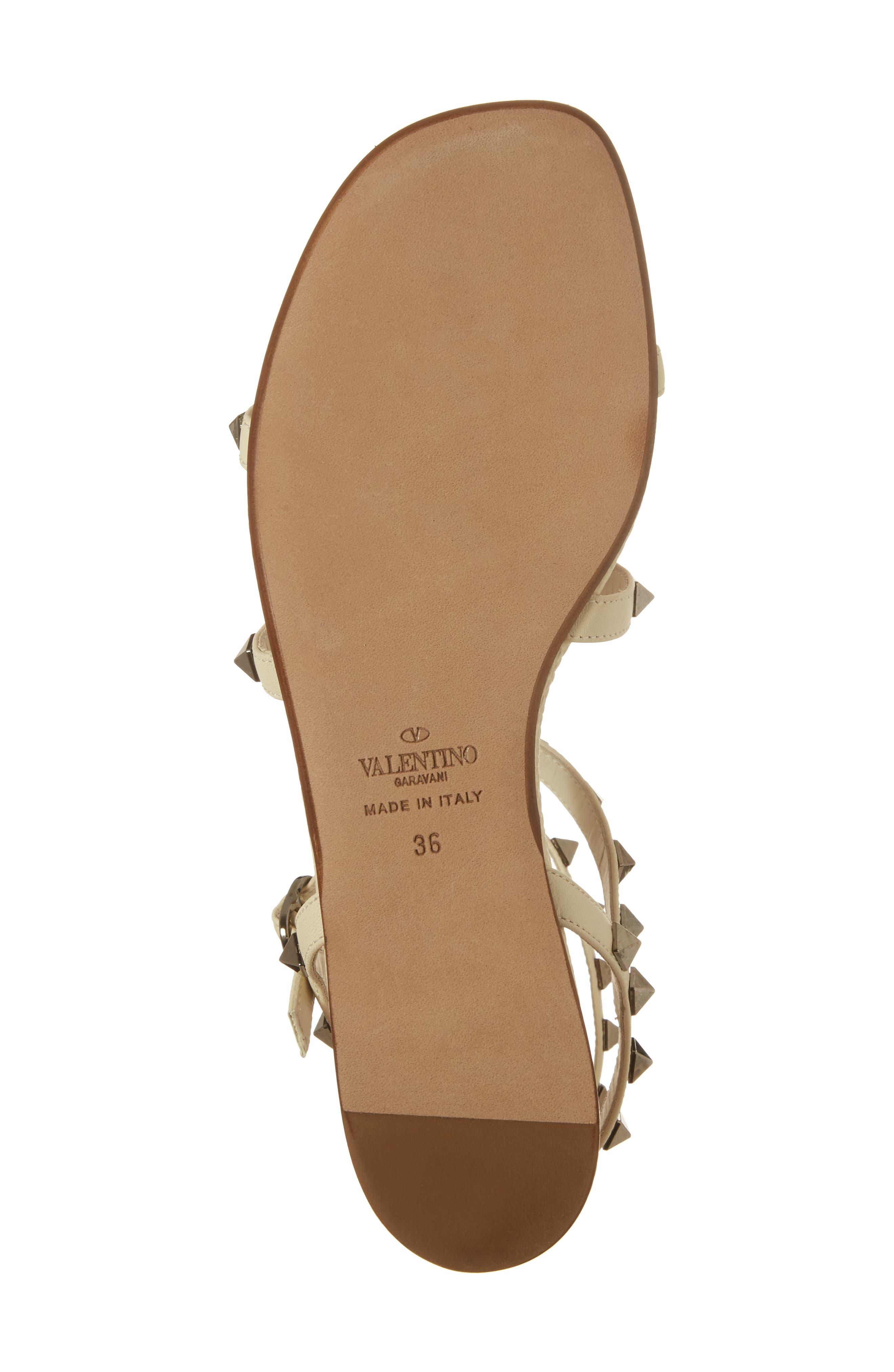 Alternate Image 6  - Valentino Rockstud Gladiator Sandal (Women)