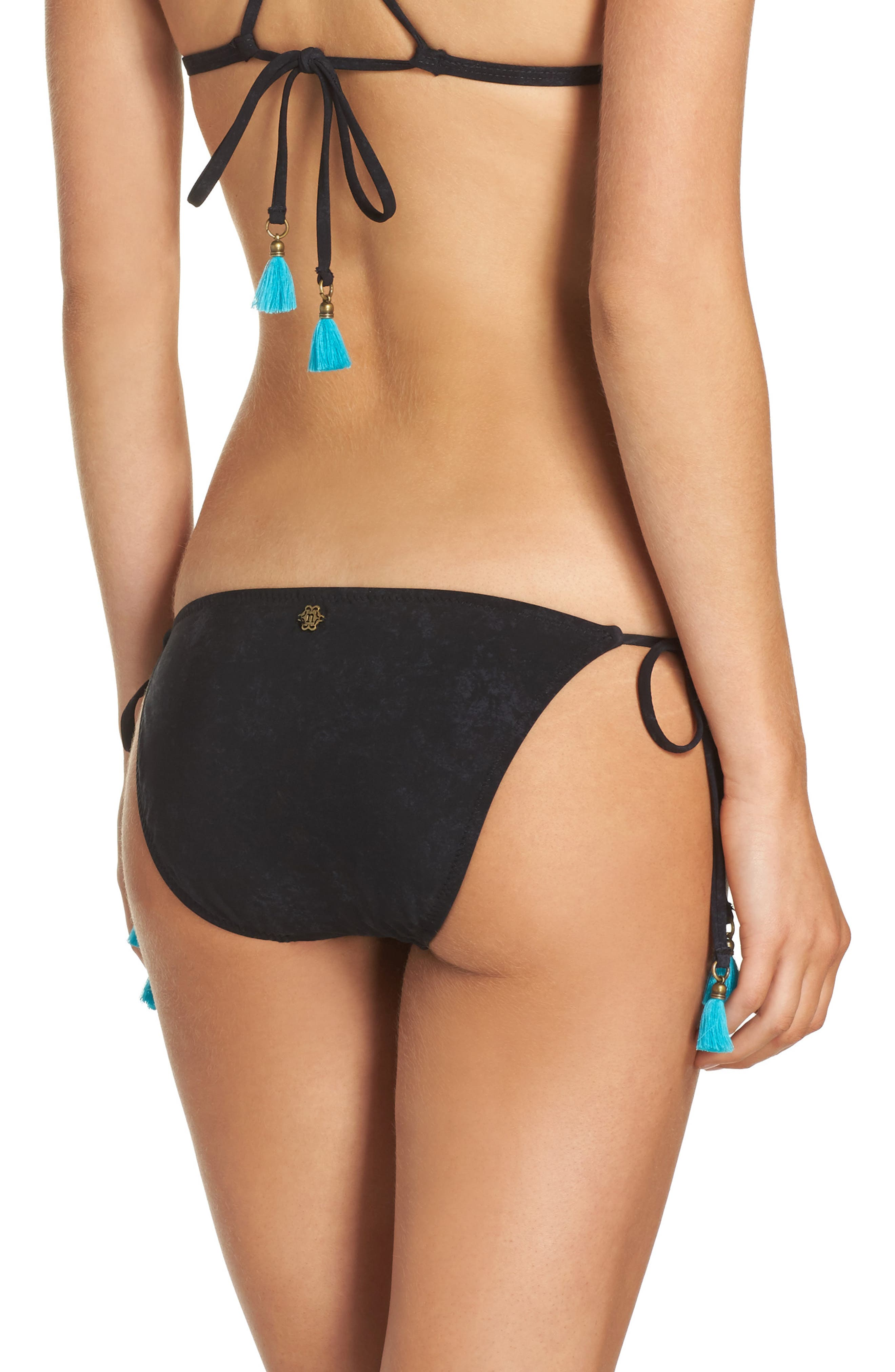Nanette Lepore Vamp Side Tie Bikini Bottoms