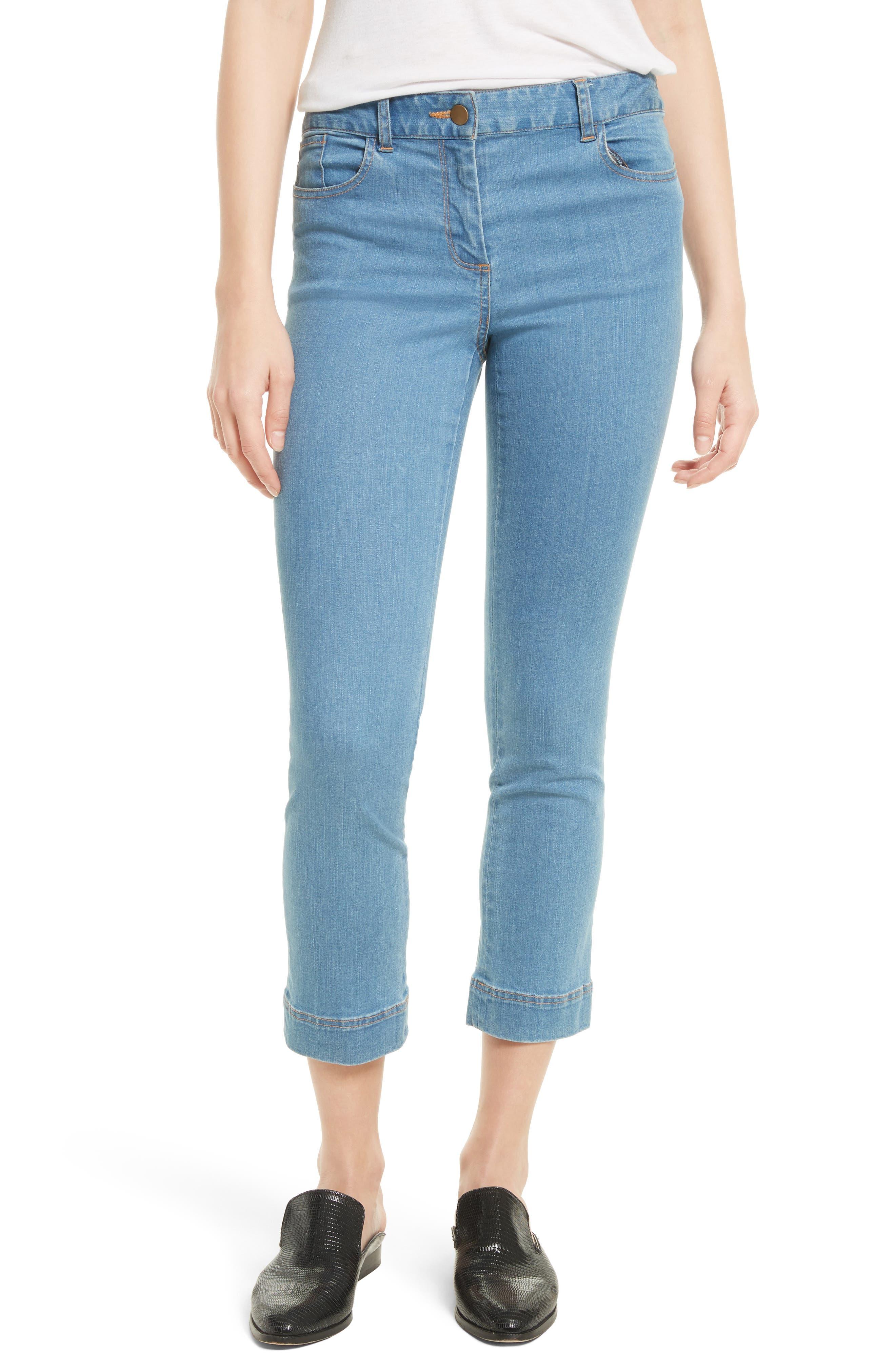 Veronica Beard Gia Crop Baby Kick Jeans