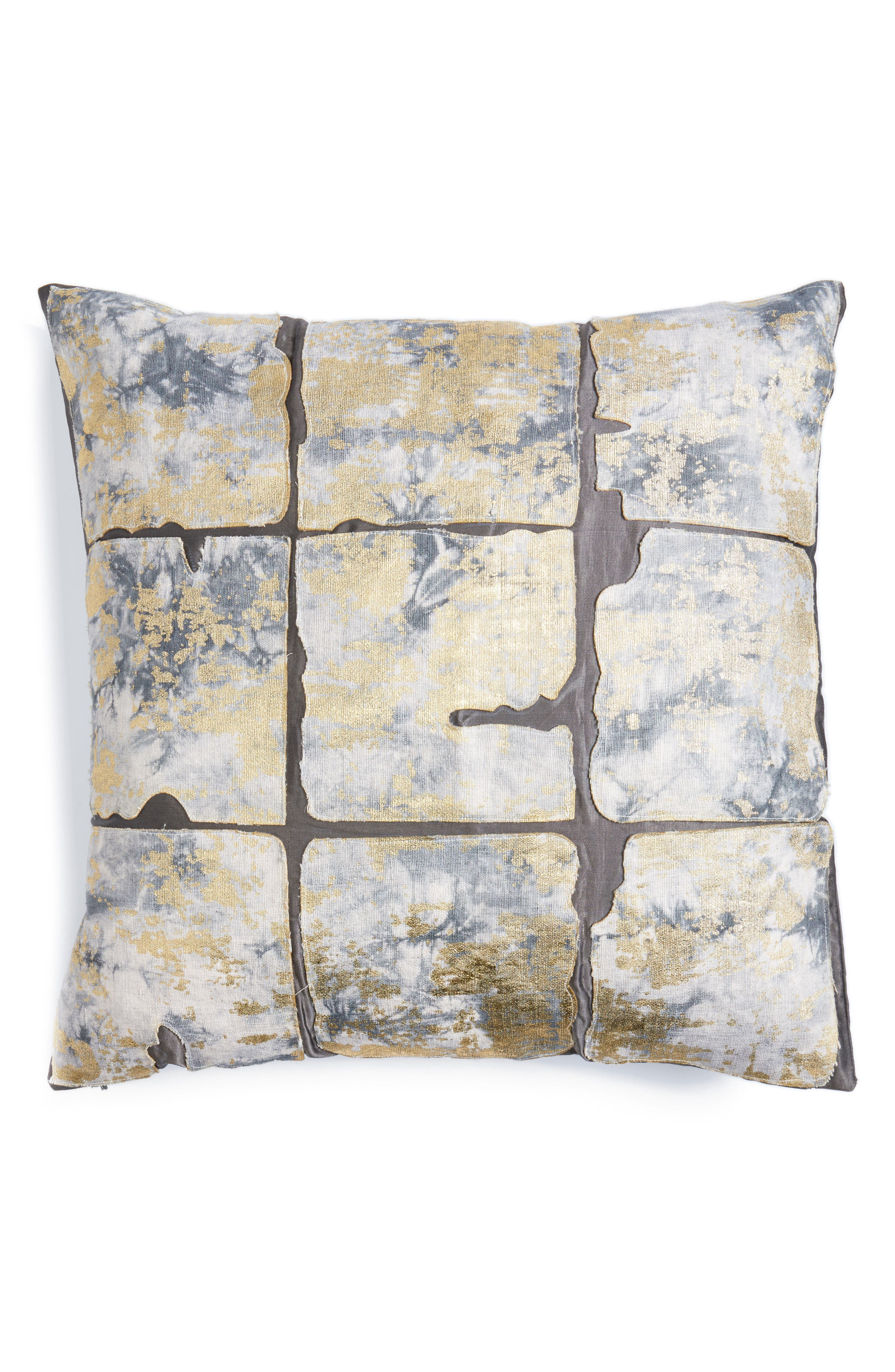 Cloud9 Designs Slub Appliqué Accent Pillow
