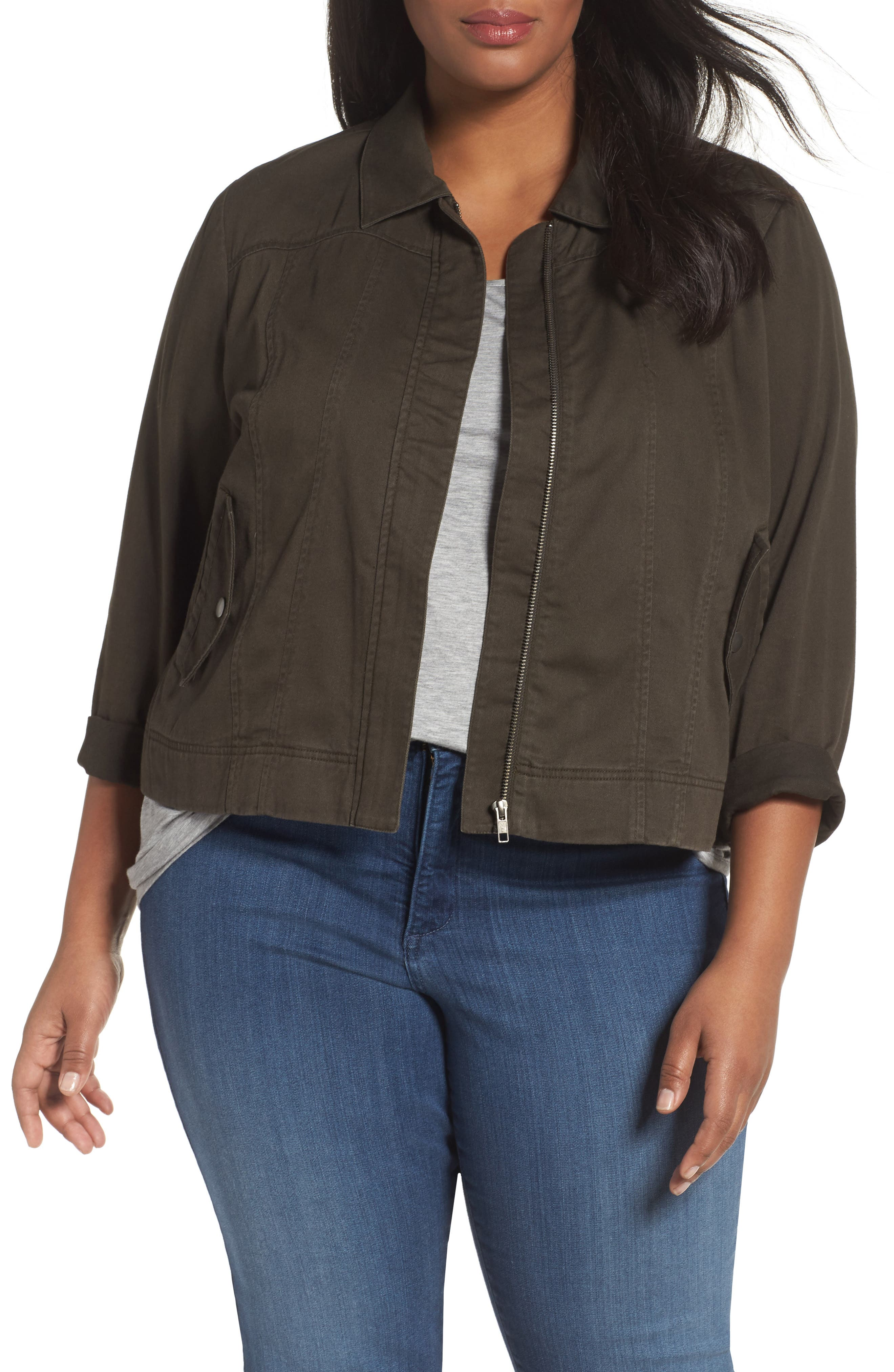 Sejour Pocket Detail Jacket (Plus Size)