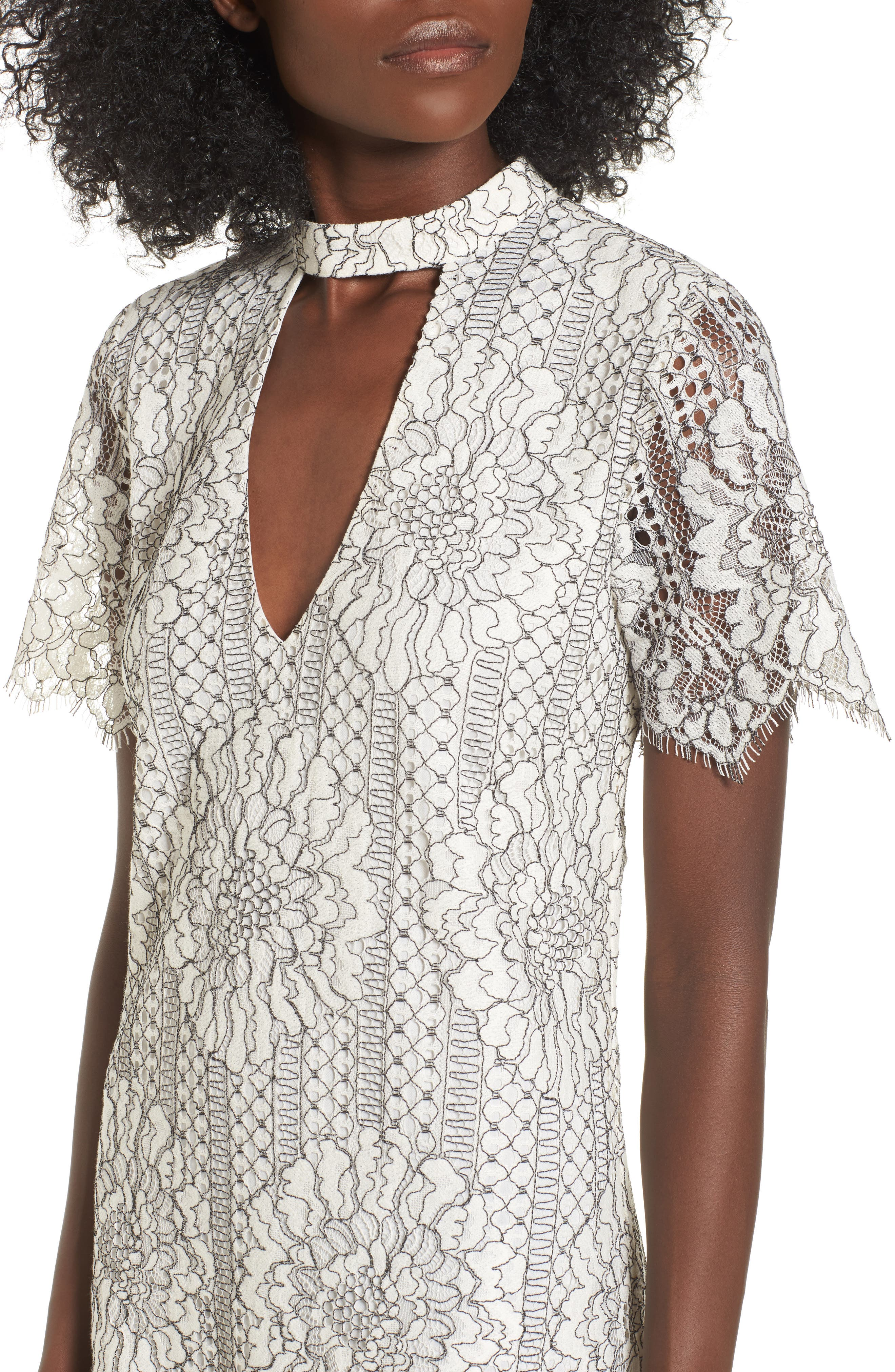 Alternate Image 4  - Socialite Choker Lace Shift Dress