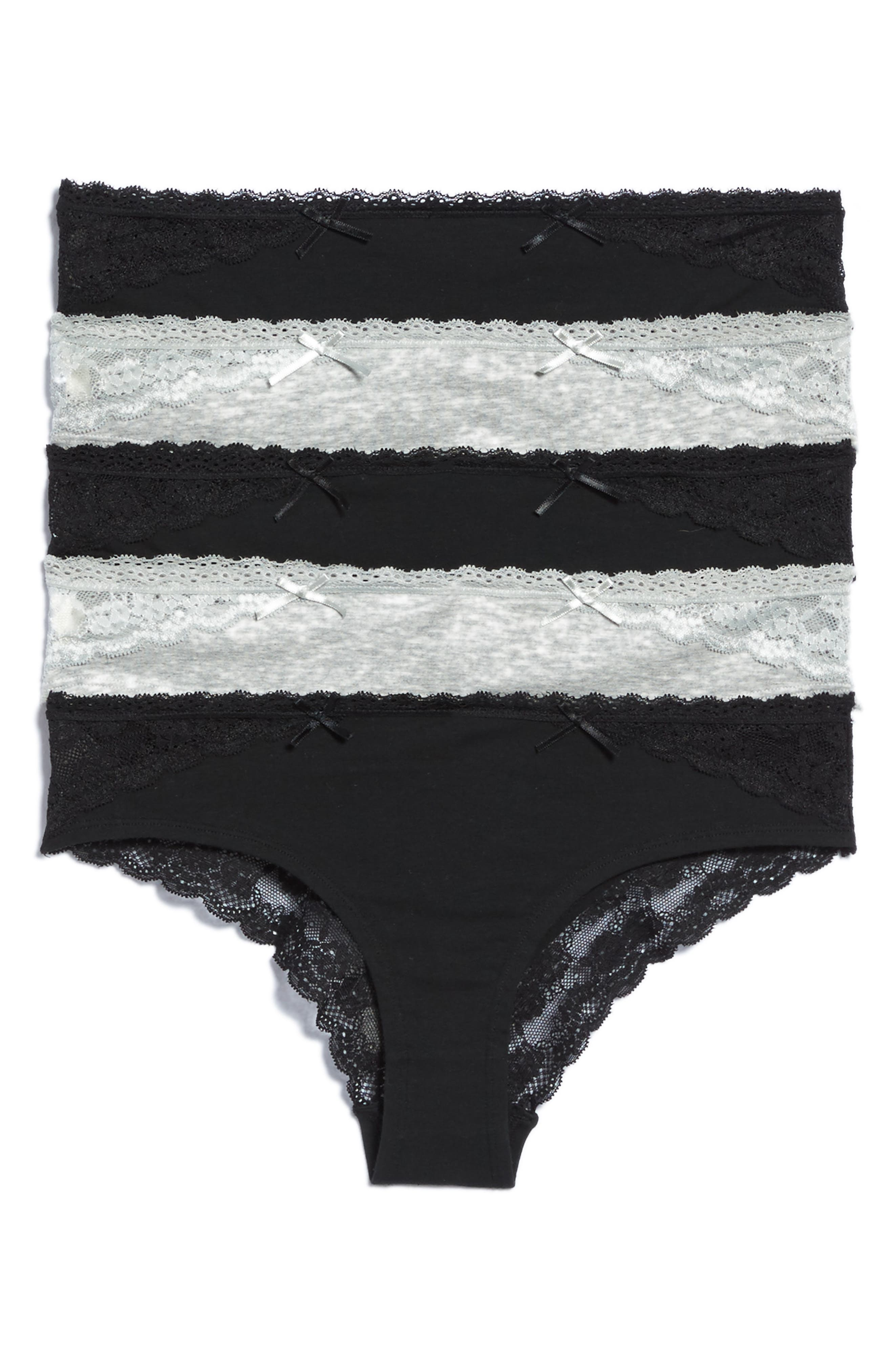 h.dew 5-Pack Stretch Cotton Bikini
