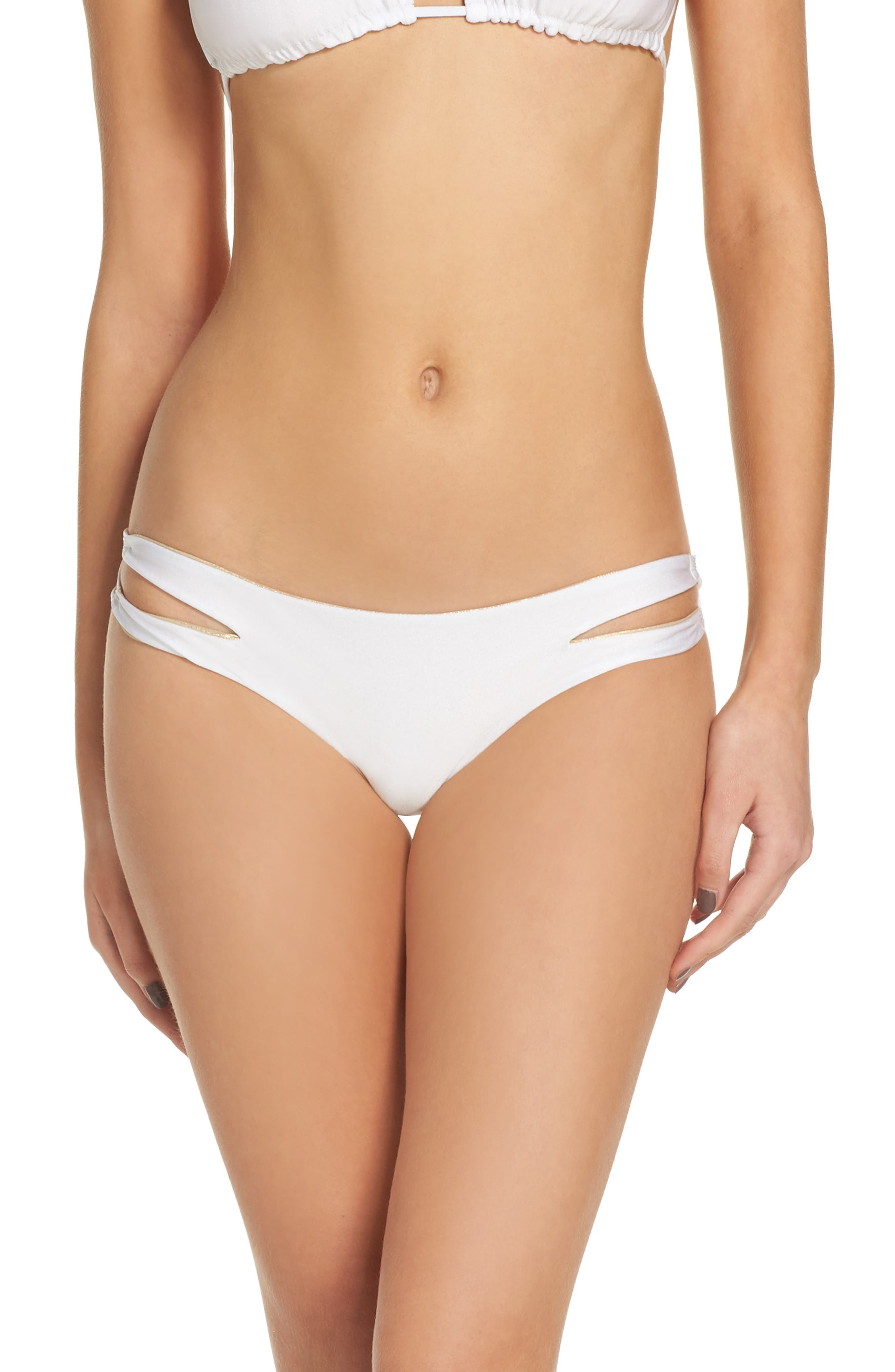 Luli Fama Zig Zag Reversible Cutout Bikini Bottoms
