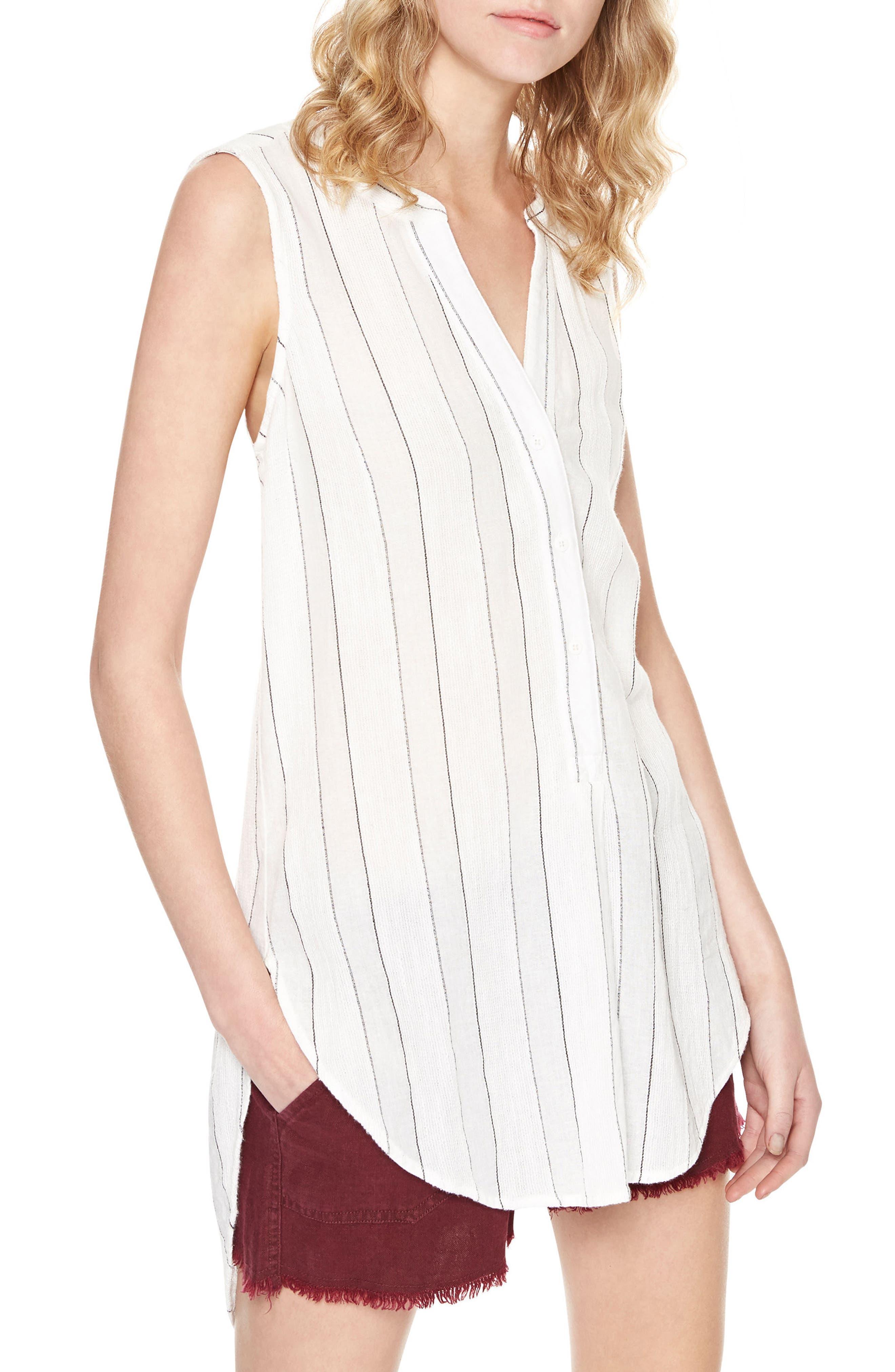 Sanctuary Arlo Stripe Cotton & Linen Tunic