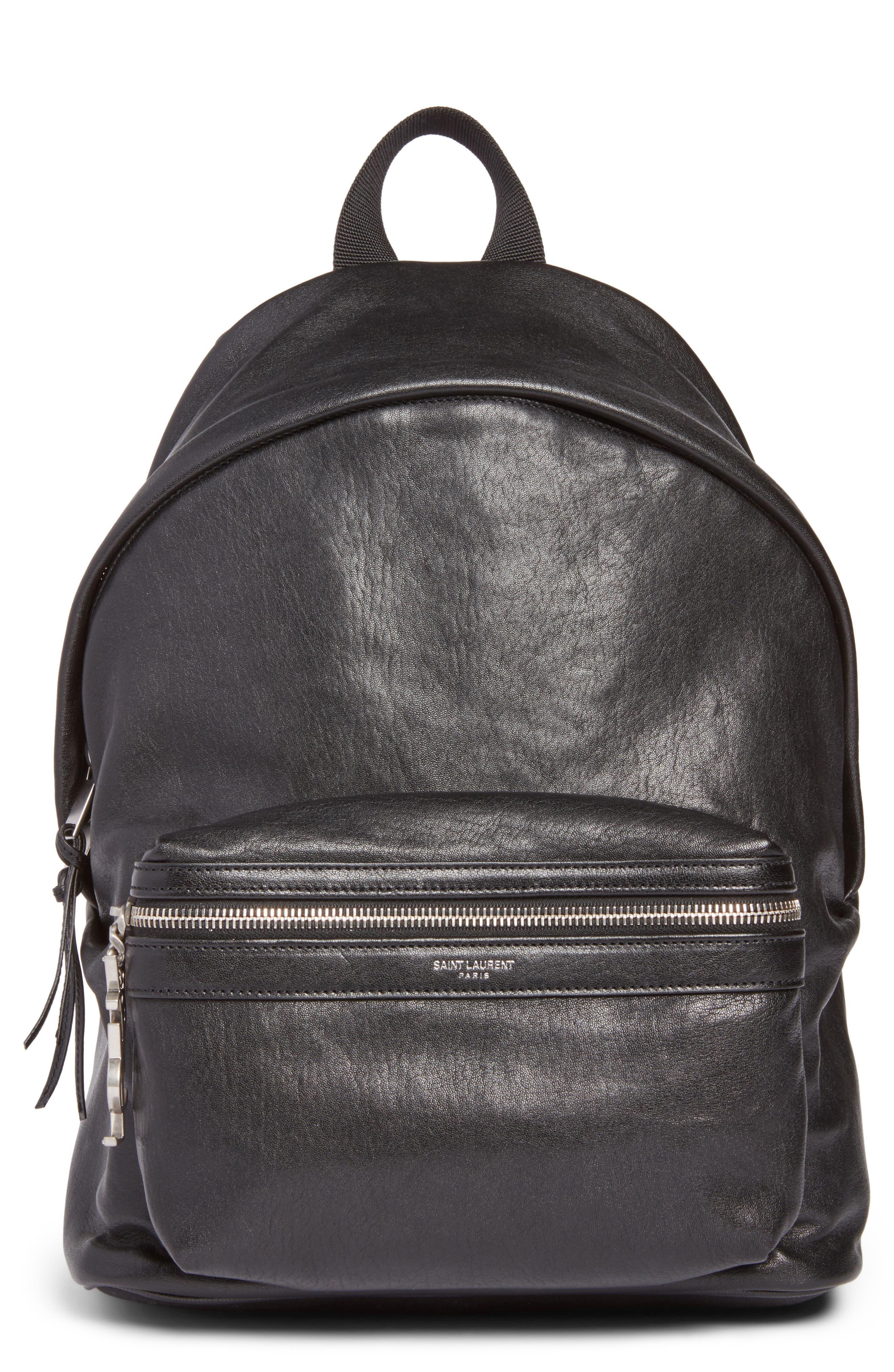 Saint Laurent Mini City Leather Backpack