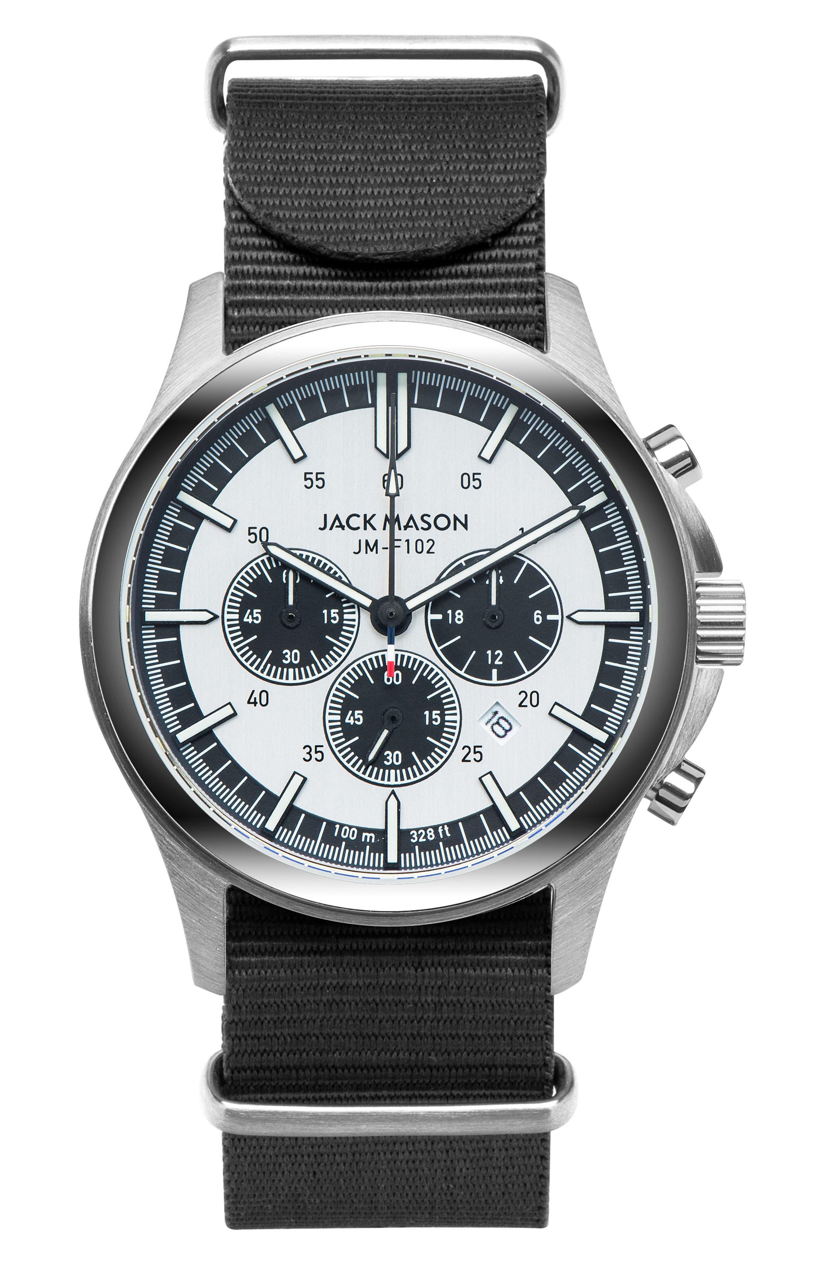 Jack Mason Field Chronograph NATO Strap Watch, 42mm