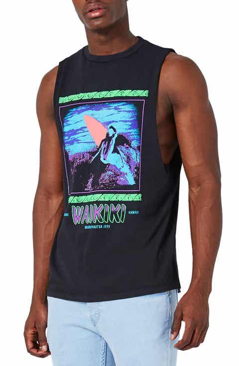 Topman Waikiki Graphic Tank