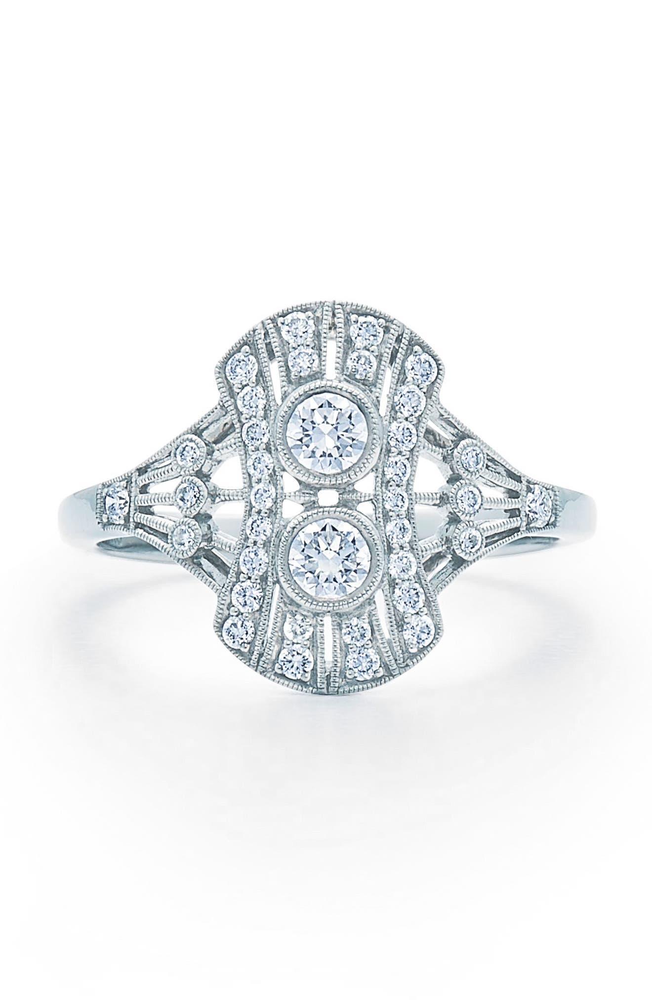 Kwiat Vintage Oval Diamond Ring