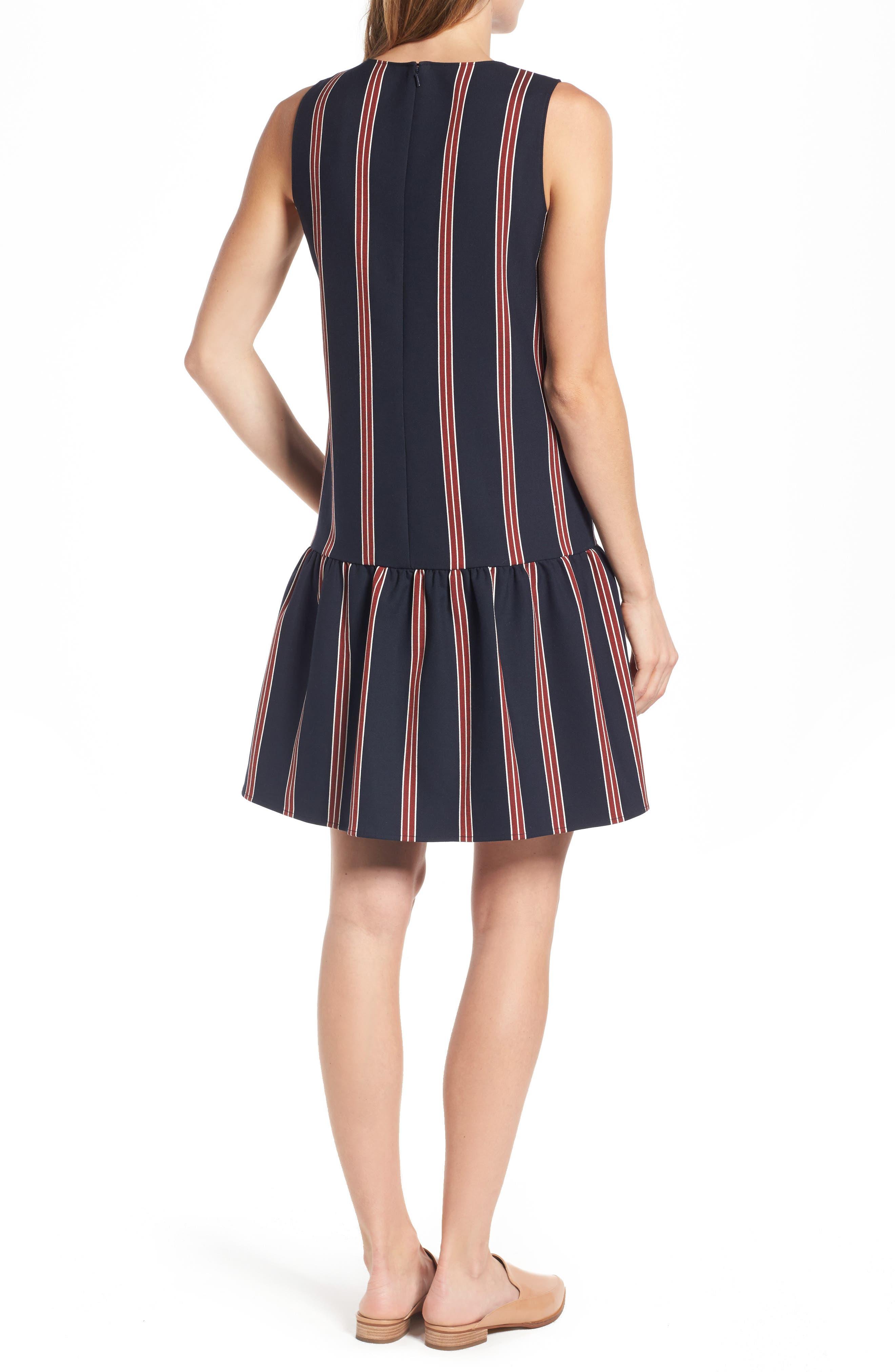 Alternate Image 3  - Halogen® Flounce Back Shift Dress (Regular & Petite)