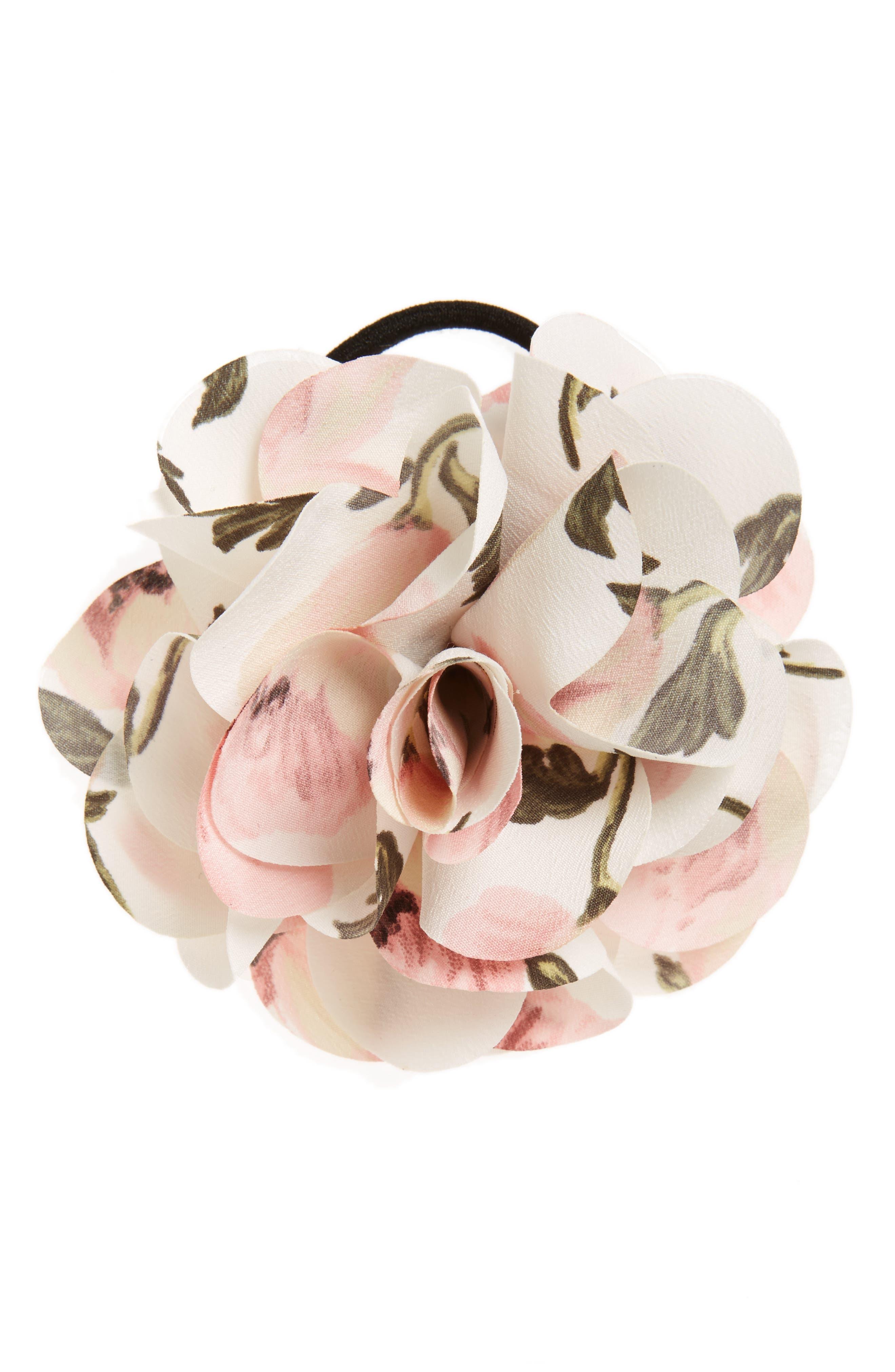 Alternate Image 1 Selected - Cara Flower Ponytail Holder