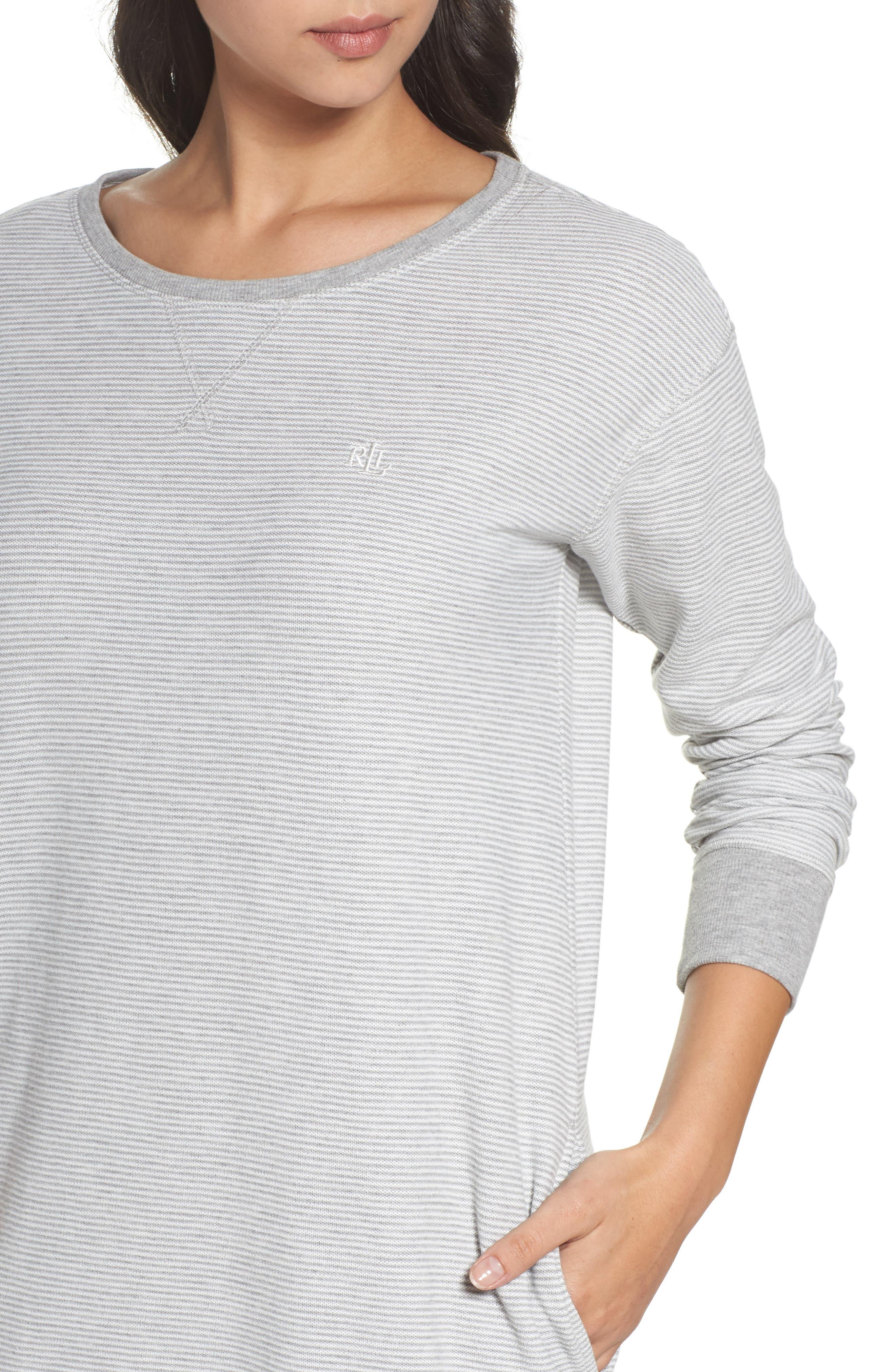 Alternate Image 5  - Lauren Ralph Lauren Longline Lounge Sweatshirt