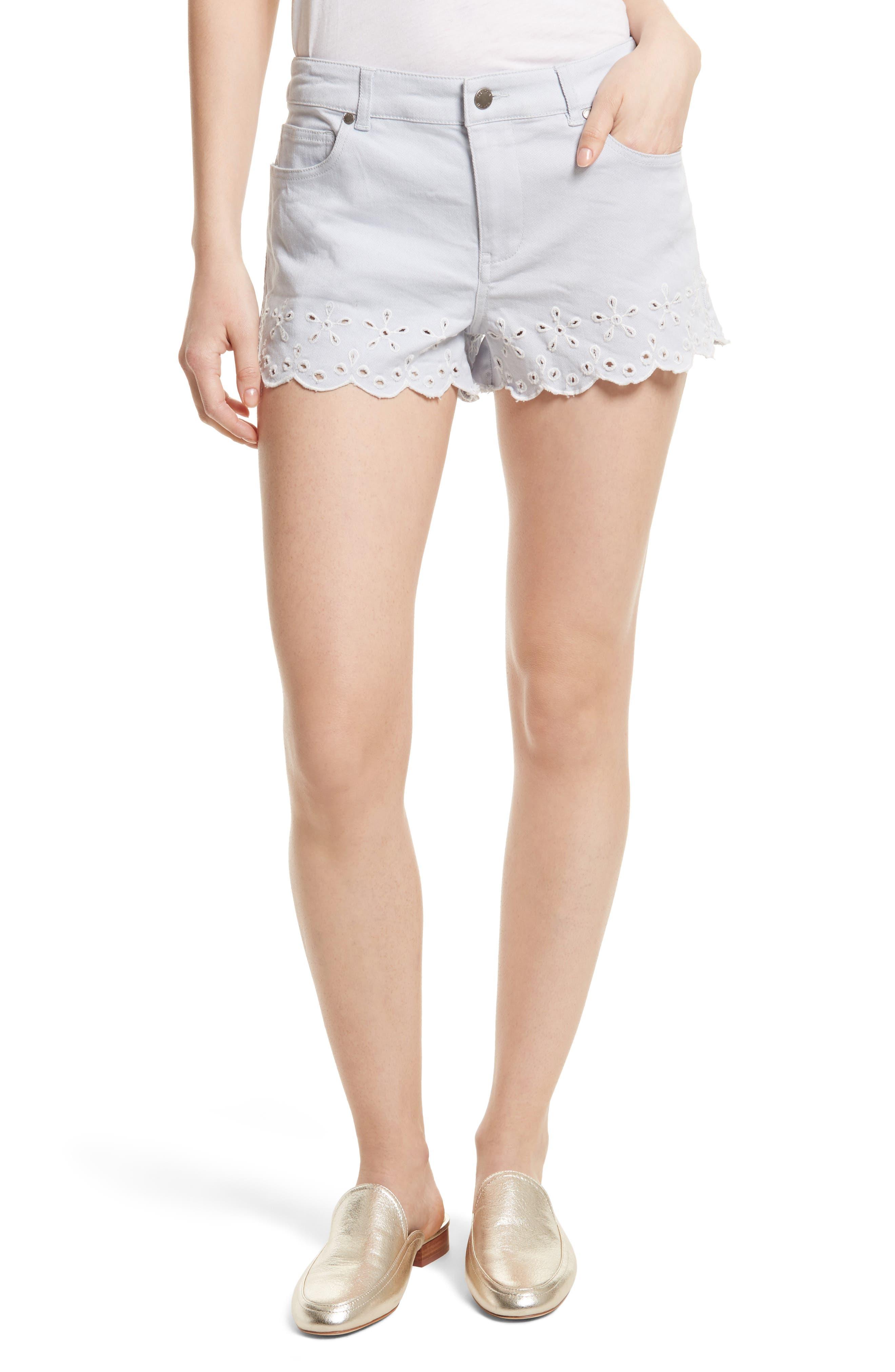 Rebecca Minkoff Marsh Denim Shorts (Sky Blue)