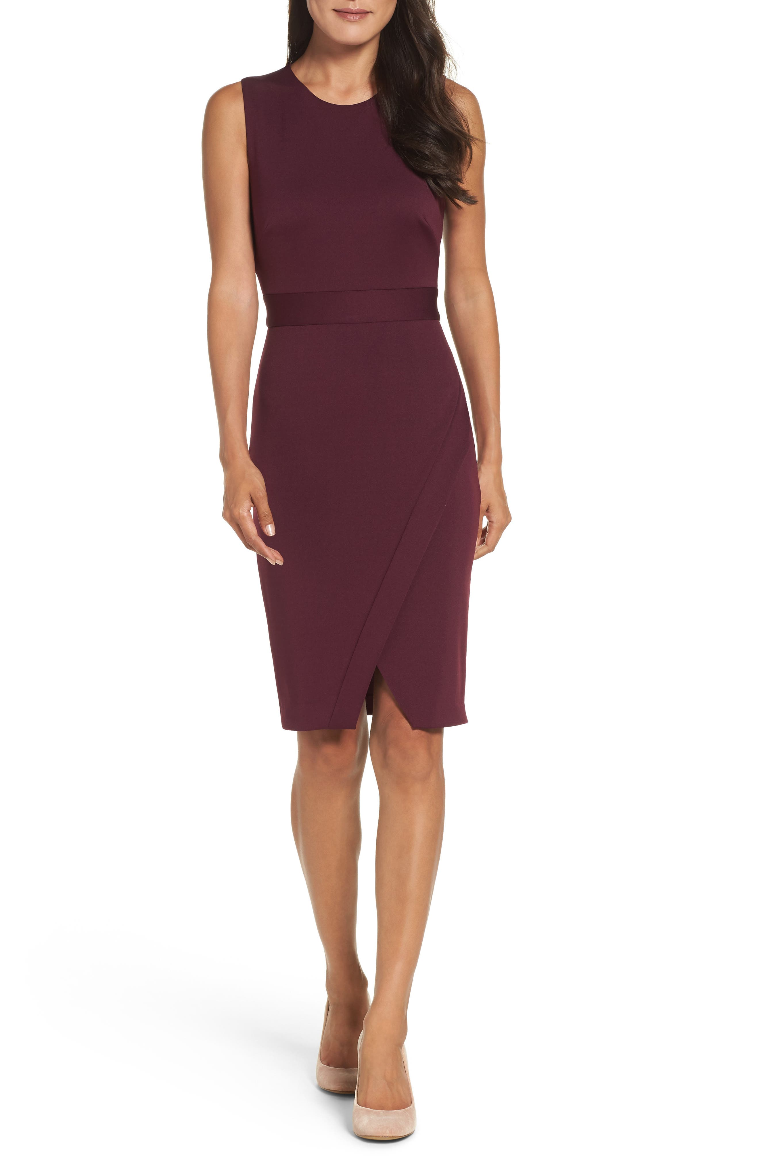 Maggy London Scissor Sheath Dress