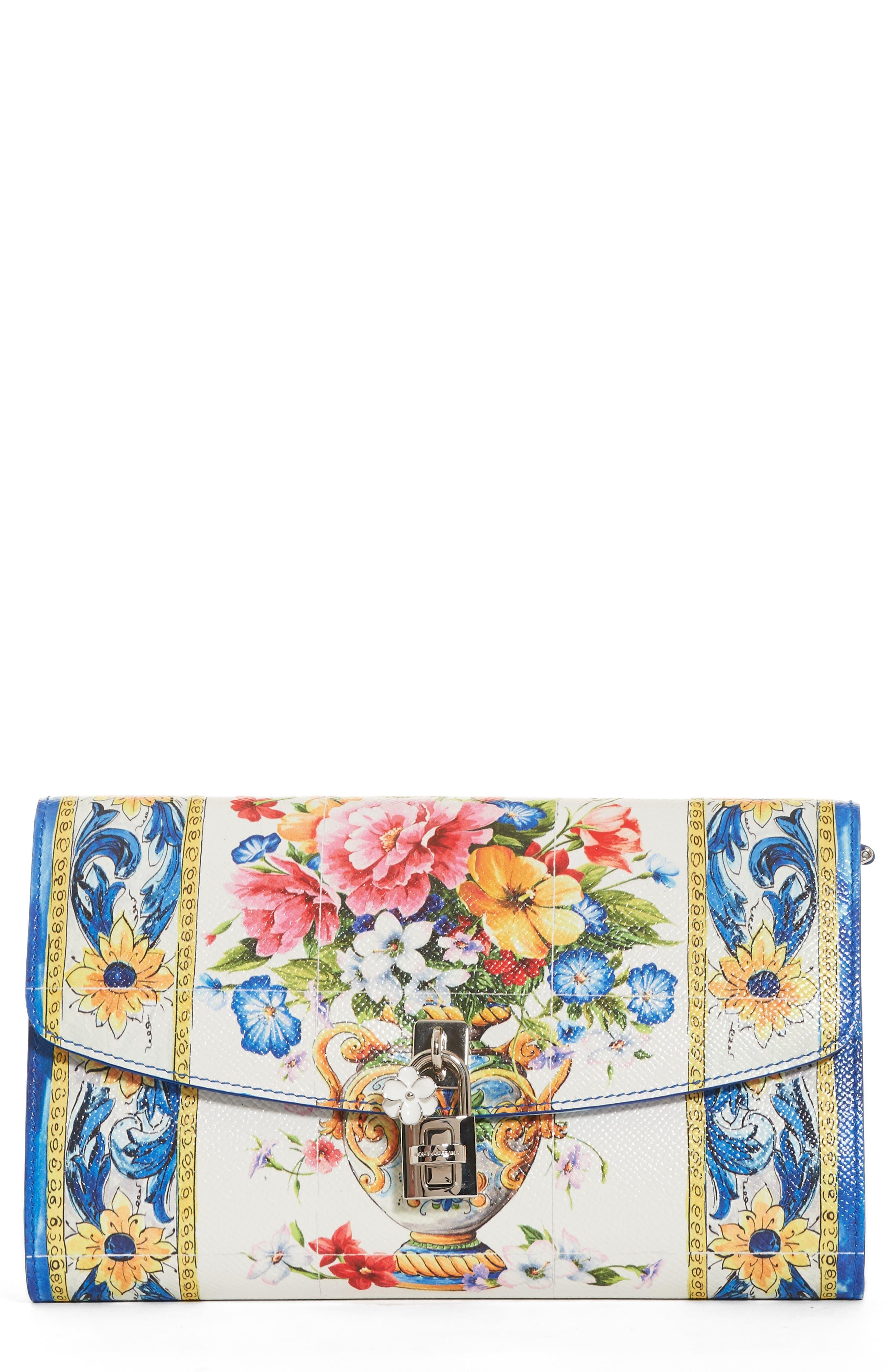 Dolce&Gabbana Floral Pouchette Clutch