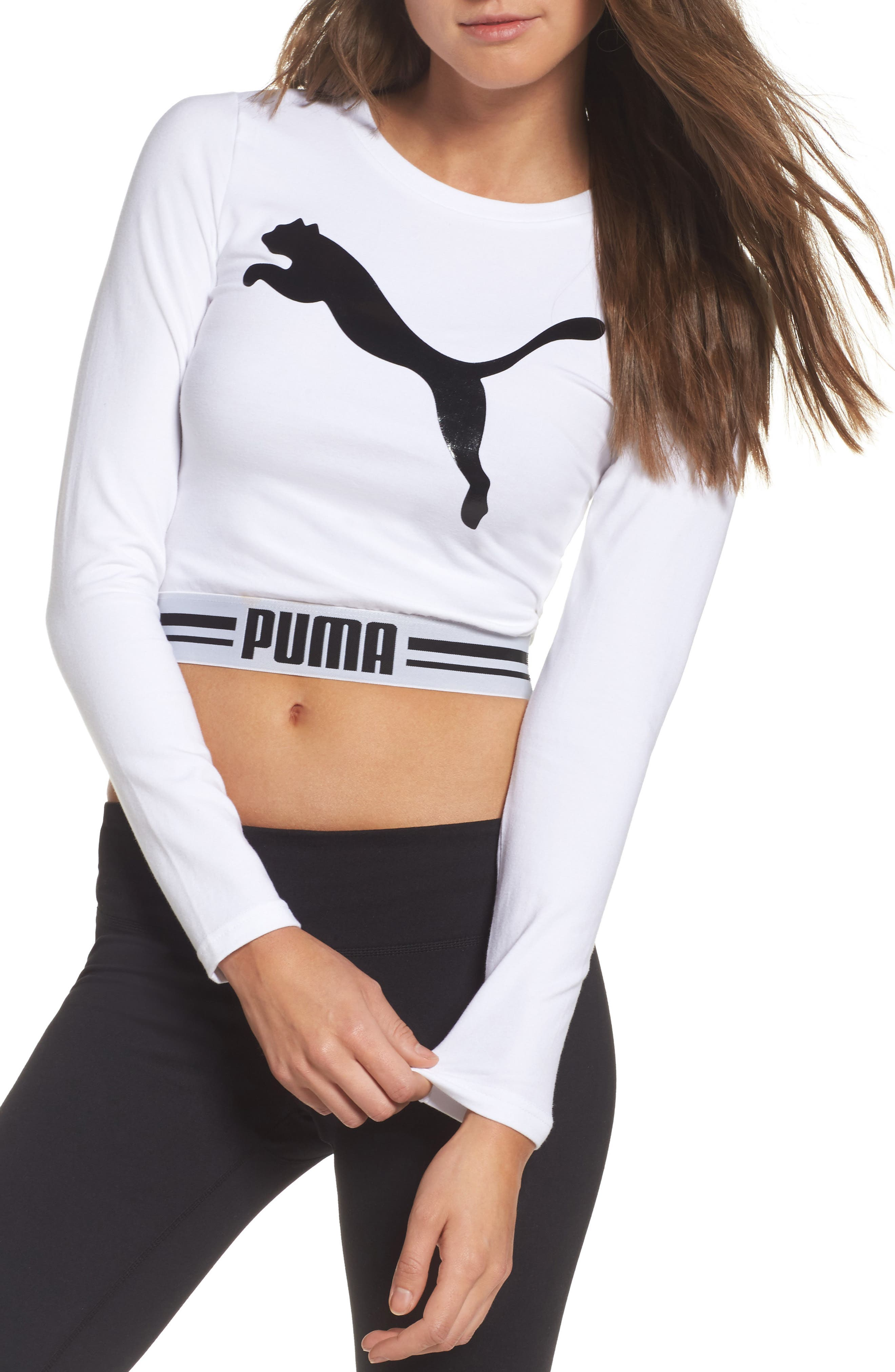 Puma Cat Crop Tee