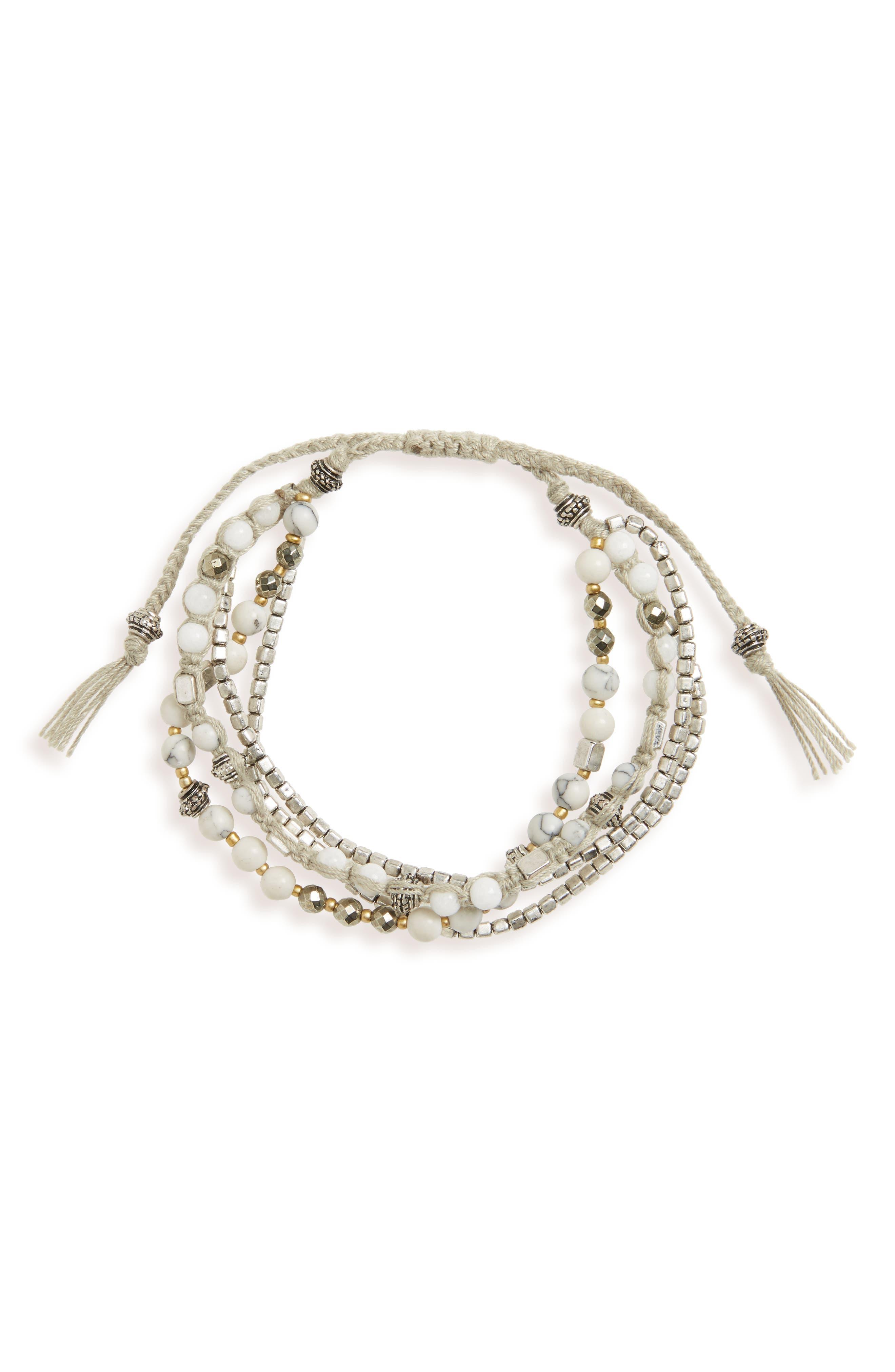 Treasure & Bond Macramé Nugget Pull Bracelet