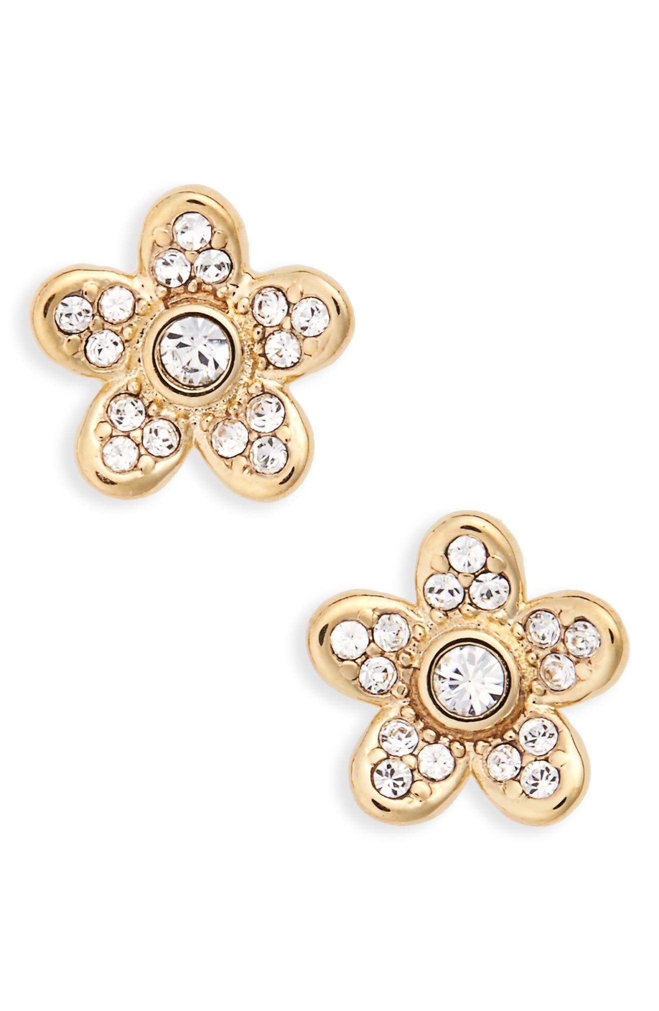MARC JACOBS Coin Flower Stud Earrings
