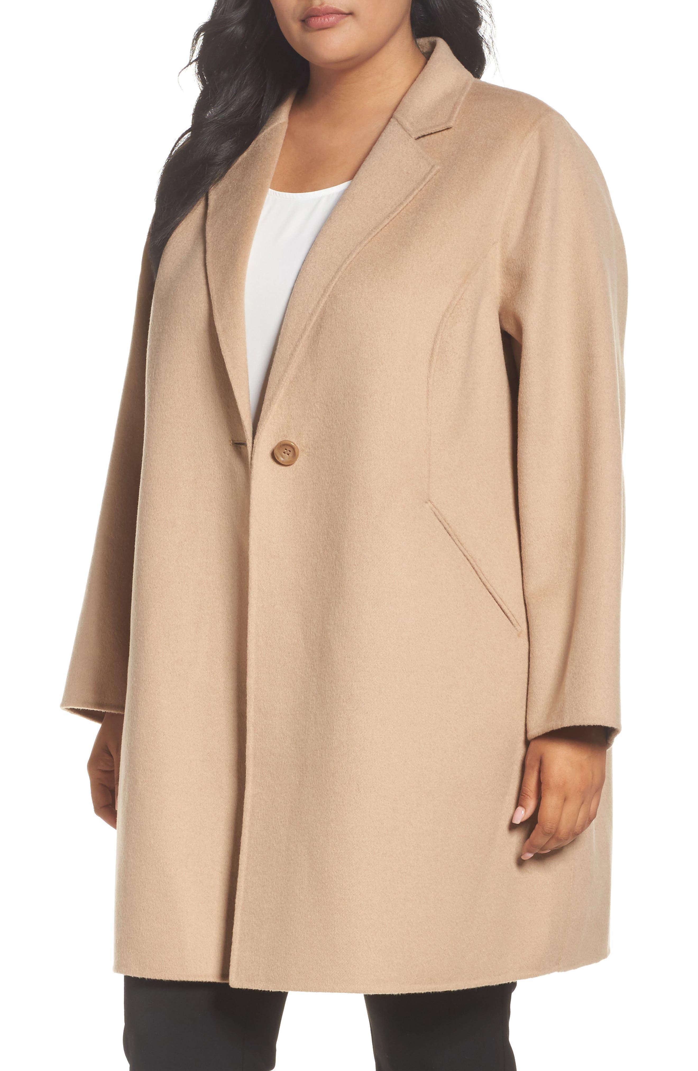 MICHAEL Michael Kors Double Face Wool Blend Coat (Plus Size)