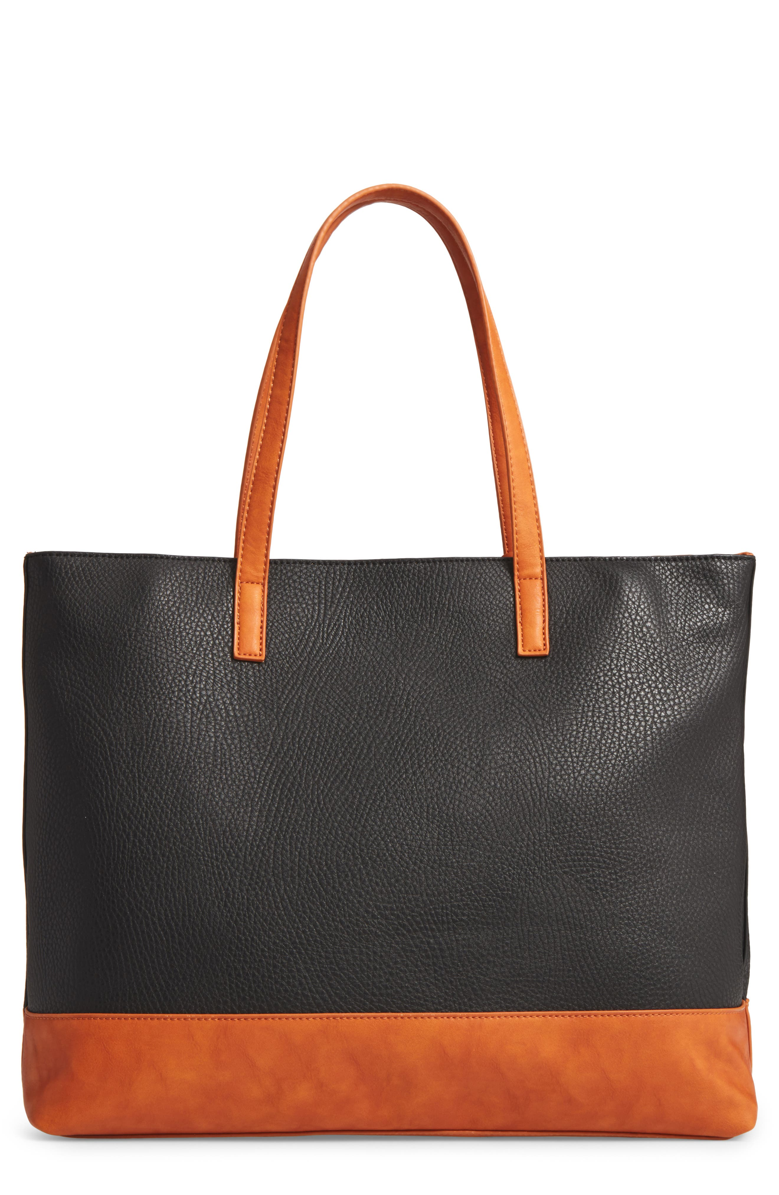 Sole Society Aurelai Colorblock Faux Leather Tote