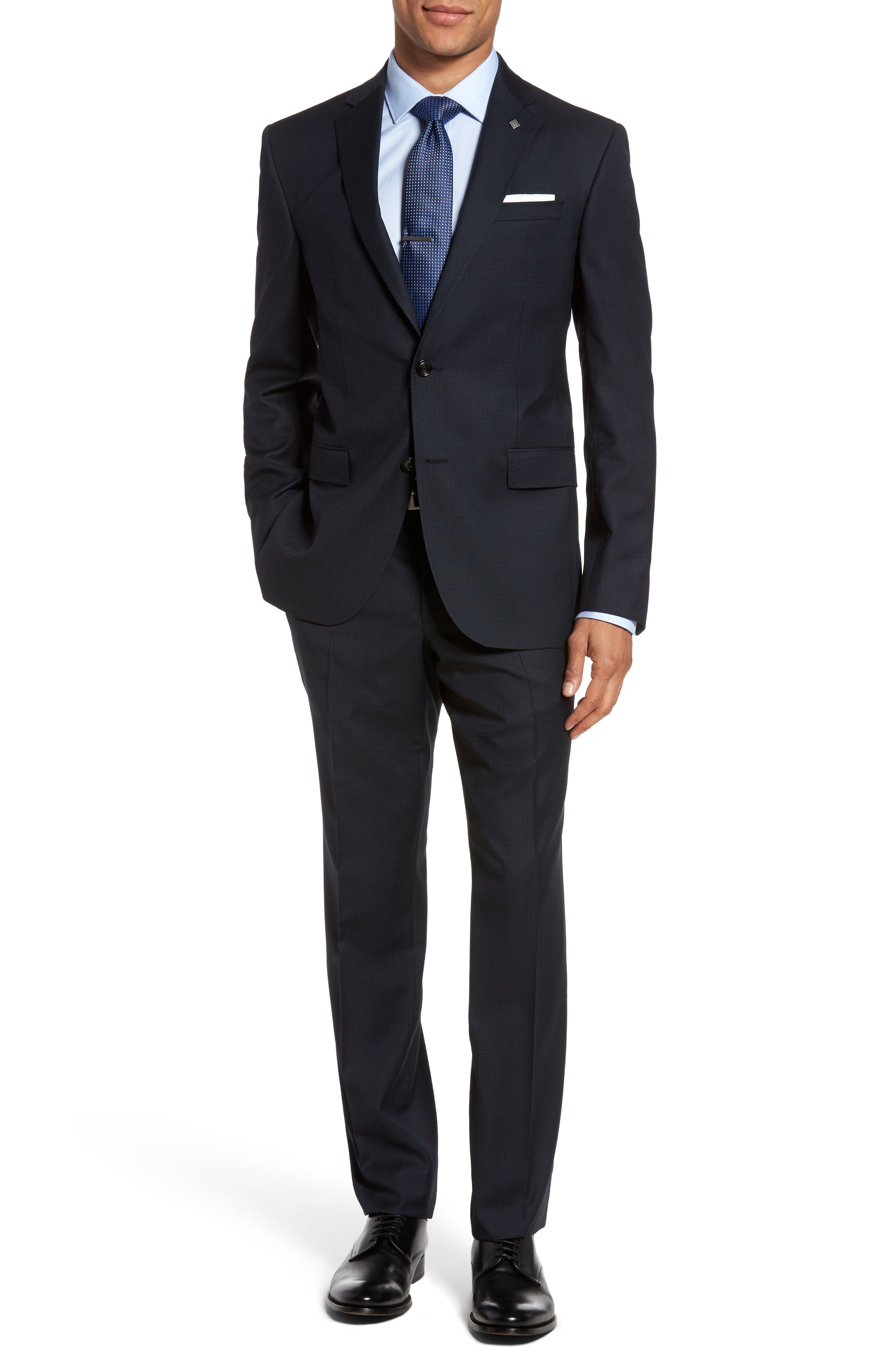 Ted Baker London Jay Trim Fit Check Wool Suit