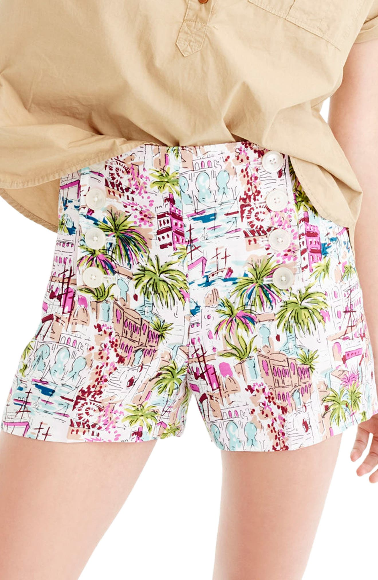 J.Crew Harbor Print Sailor Shorts