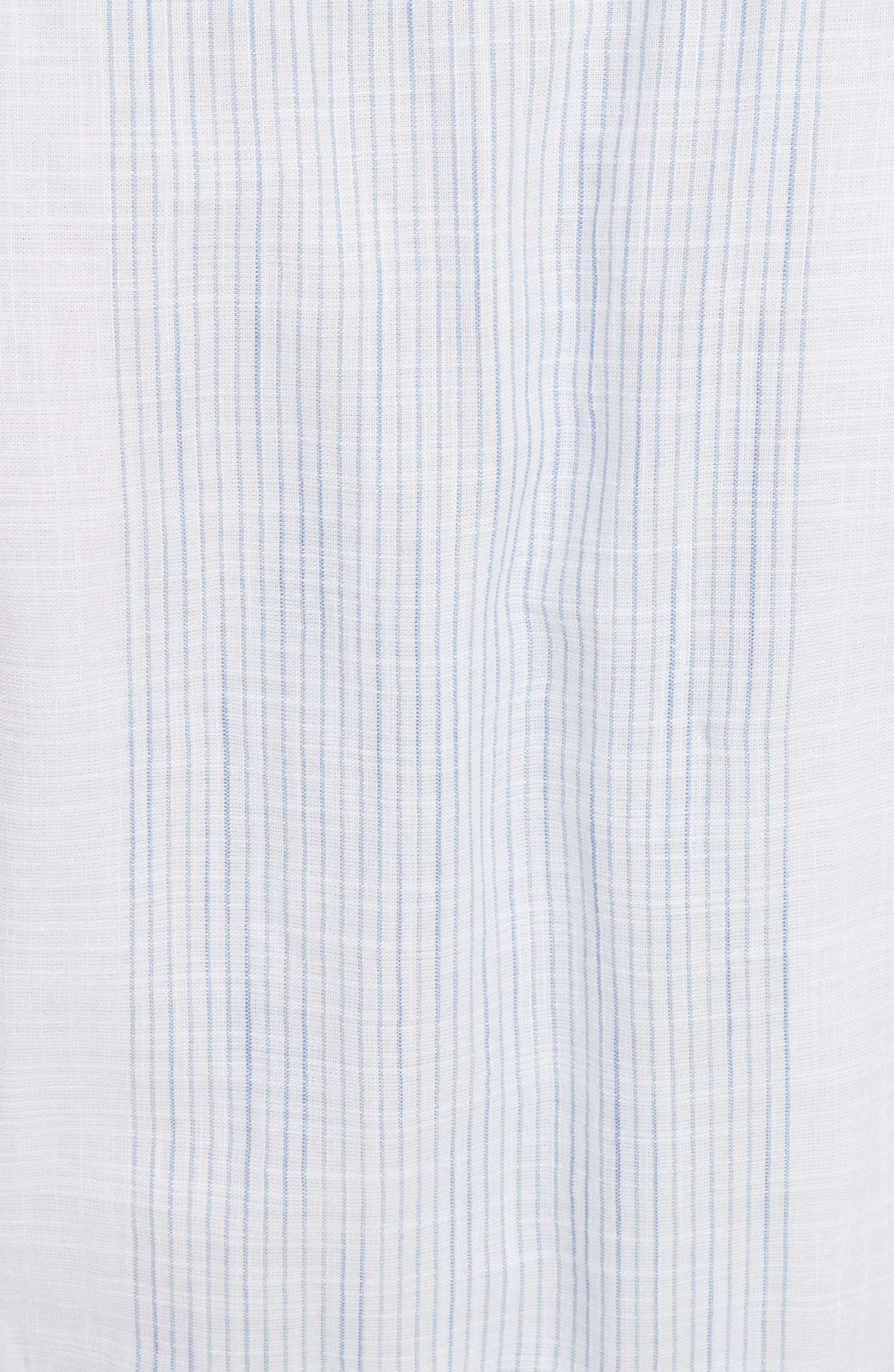 Alternate Image 5  - La Vie Rebecca Taylor Stripe Cotton Midi Dress