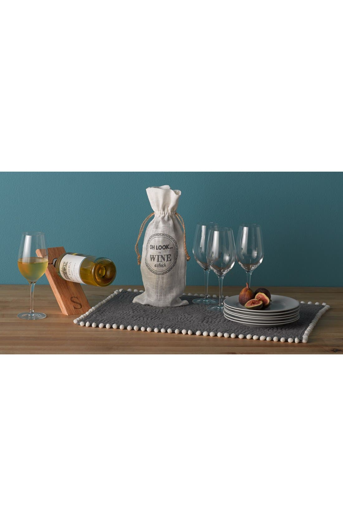 Alternate Image 5  - Cathy's Concepts Monogram Counter Balance Wine Bottle Holder