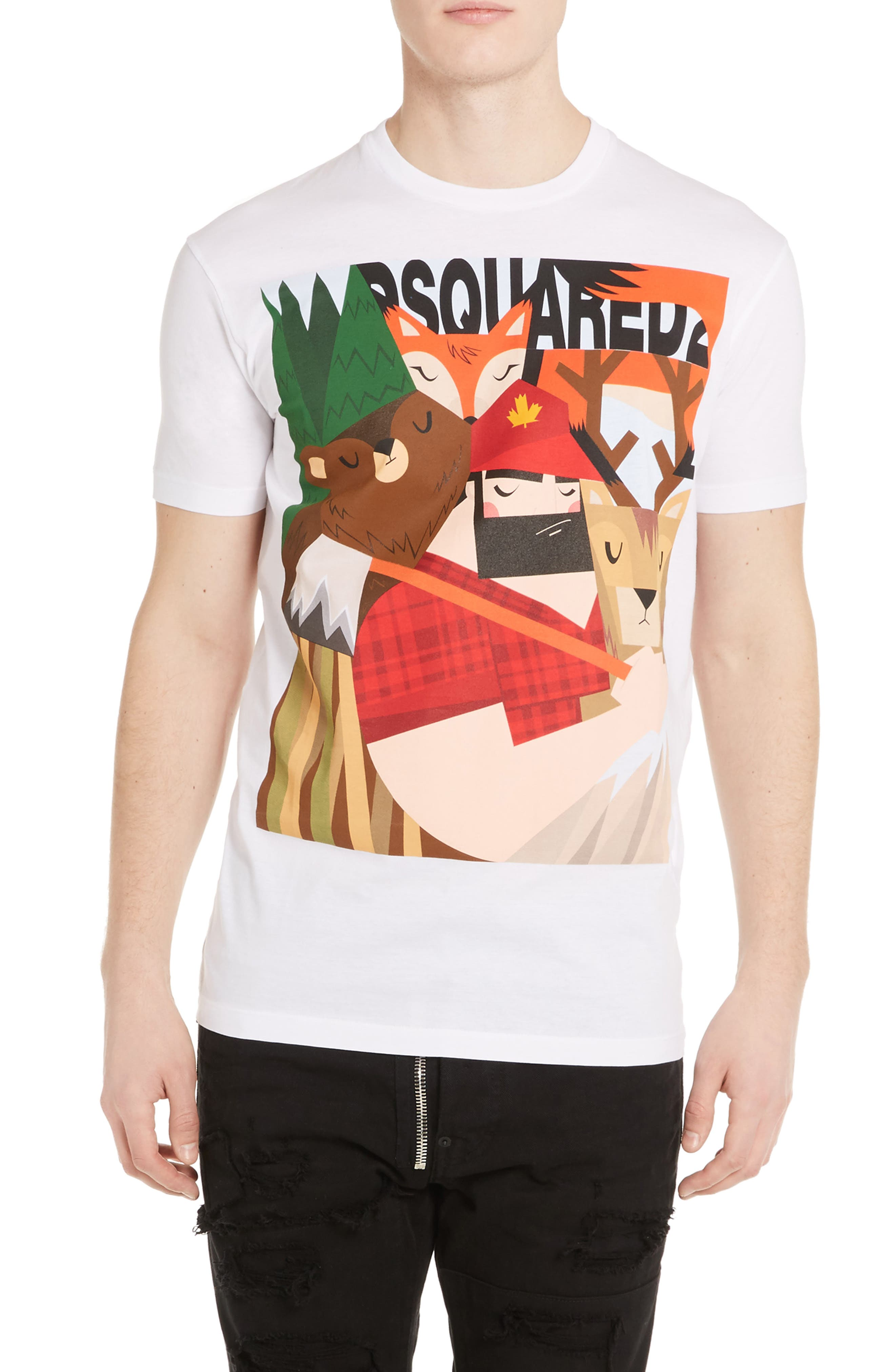 DSquared2 Woodsman & Creatures T-Shirt
