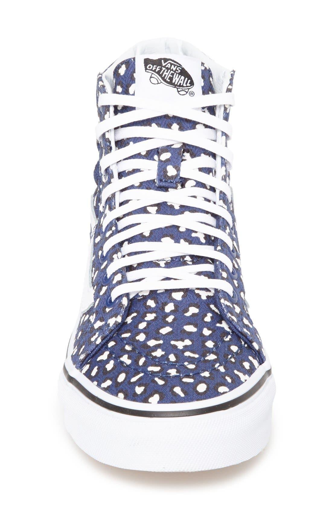 Alternate Image 3  - Vans 'Herringbone Leopard - Sk8-Hi Slim' Sneaker (Women)