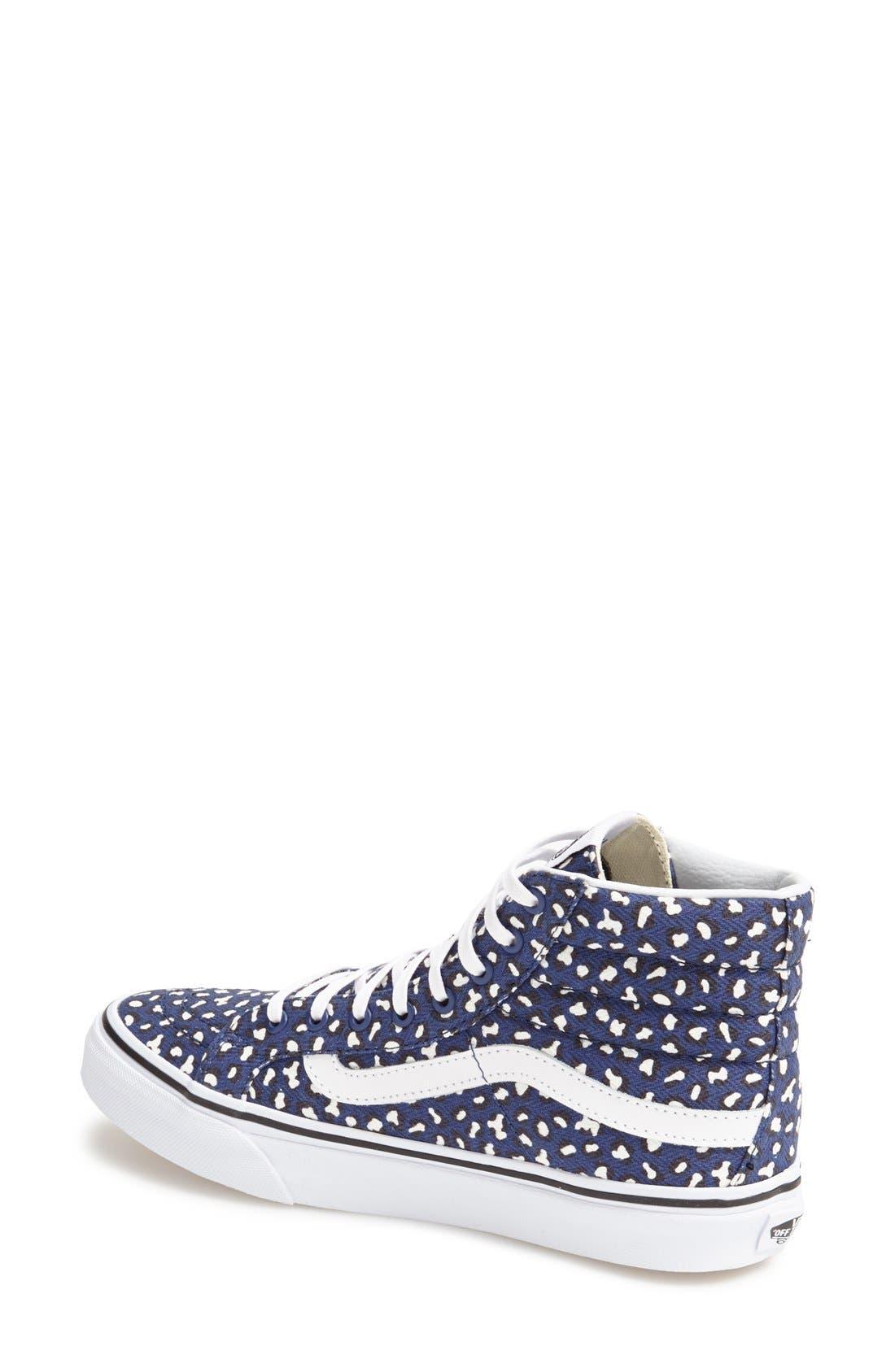 Alternate Image 2  - Vans 'Herringbone Leopard - Sk8-Hi Slim' Sneaker (Women)