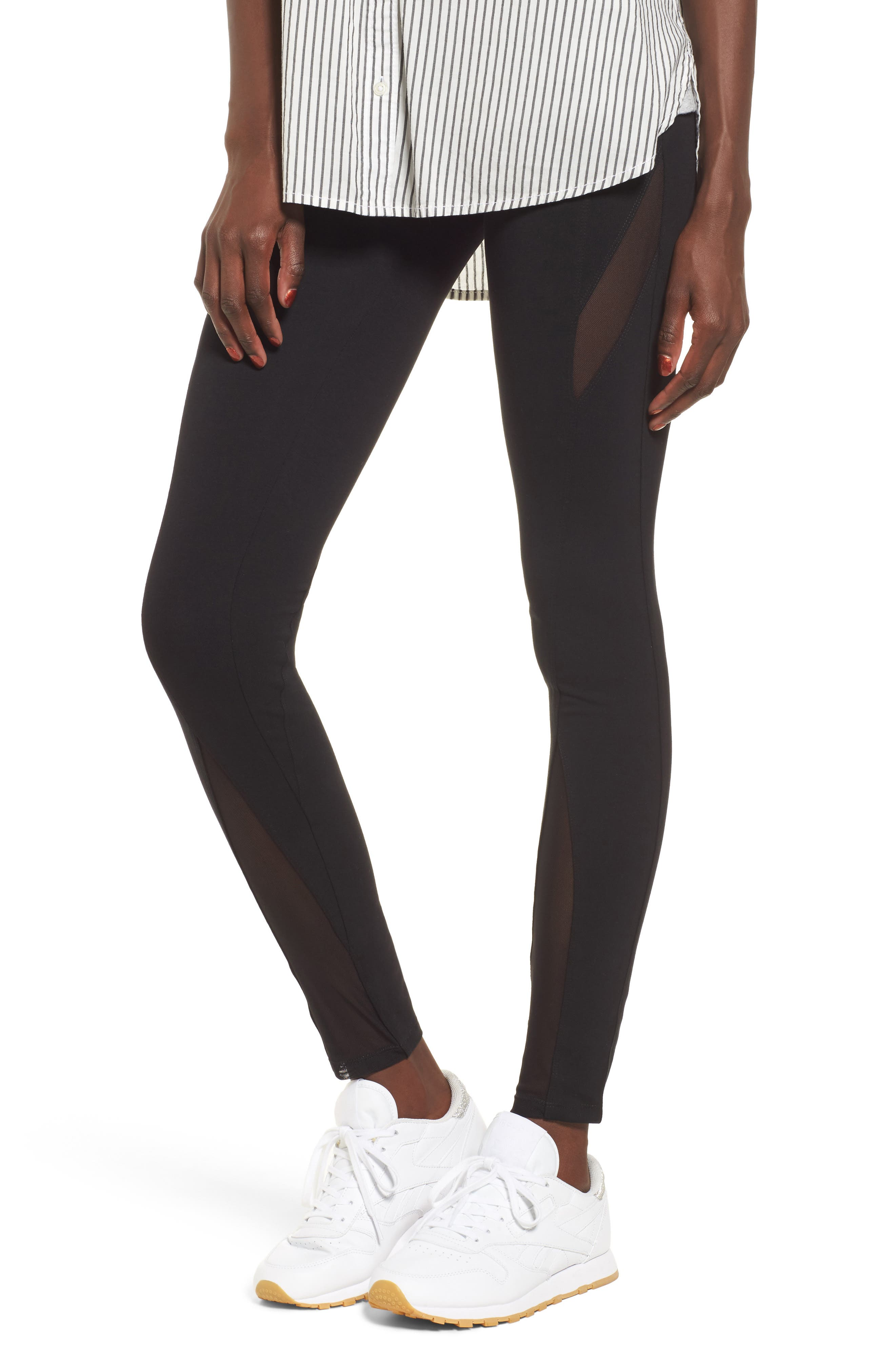BP. Mesh Inset Leggings