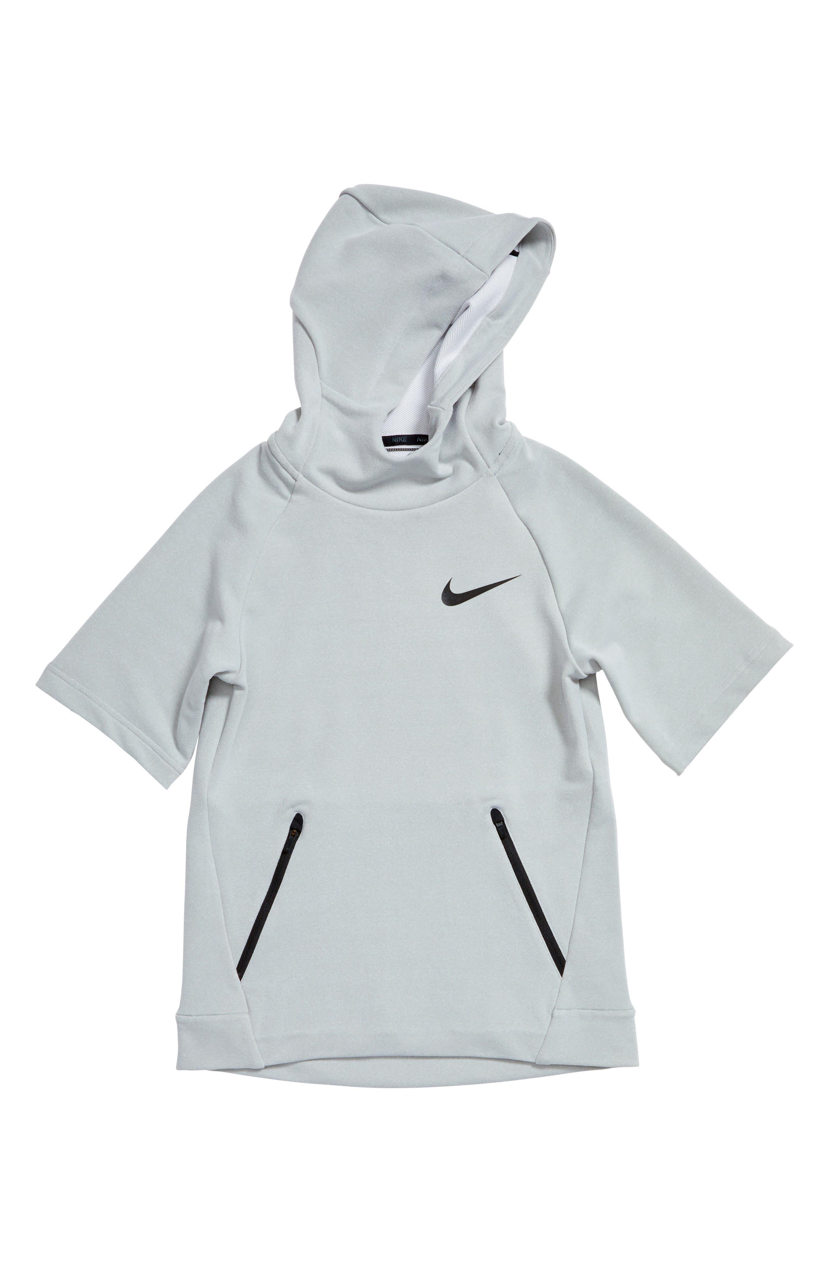 Nike Dry Hyper Fleece Short Sleeve Hoodie (Little Boys & Big Boys)