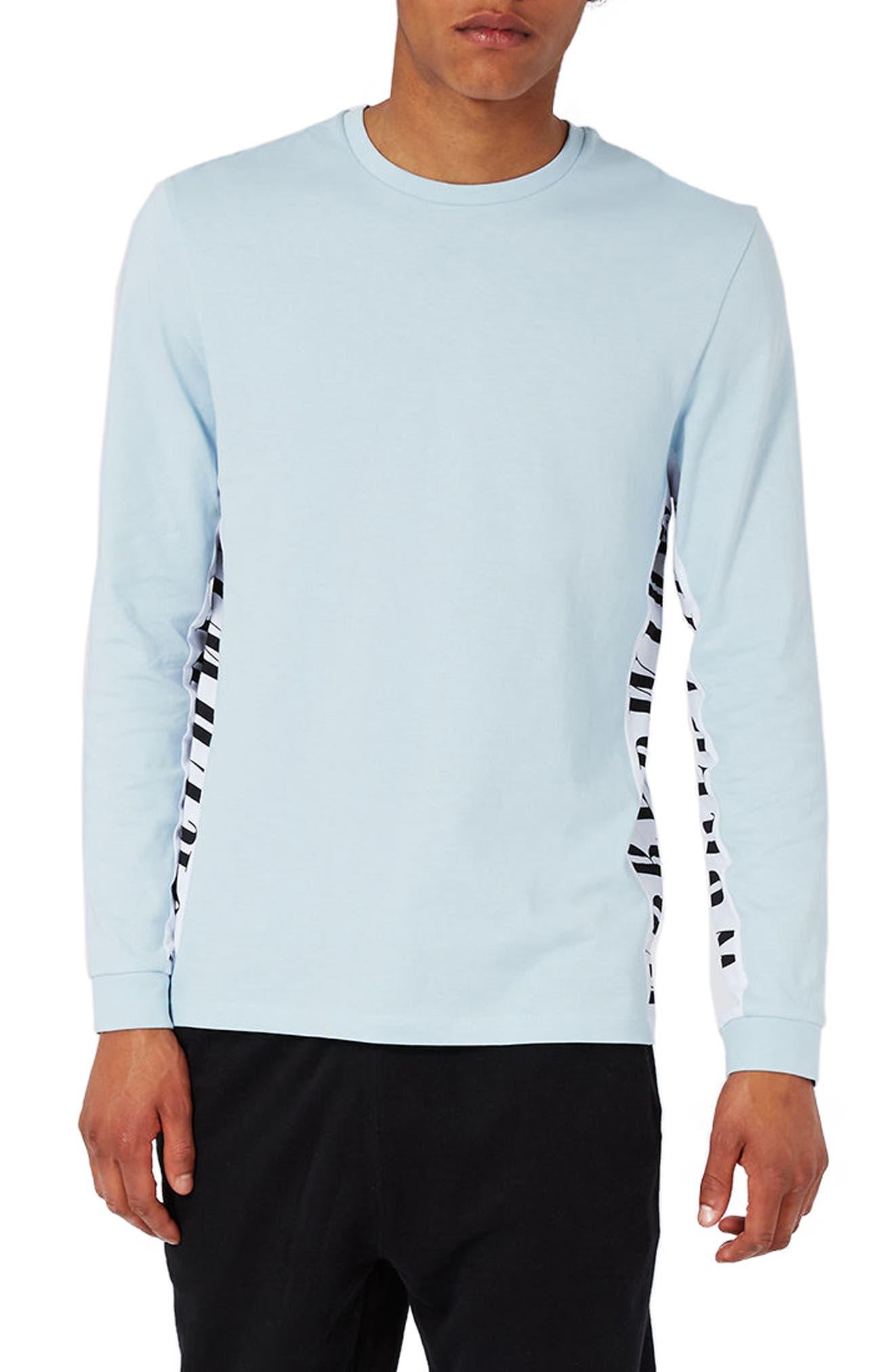 Topman Worldwide Panel Long Sleeve T-Shirt