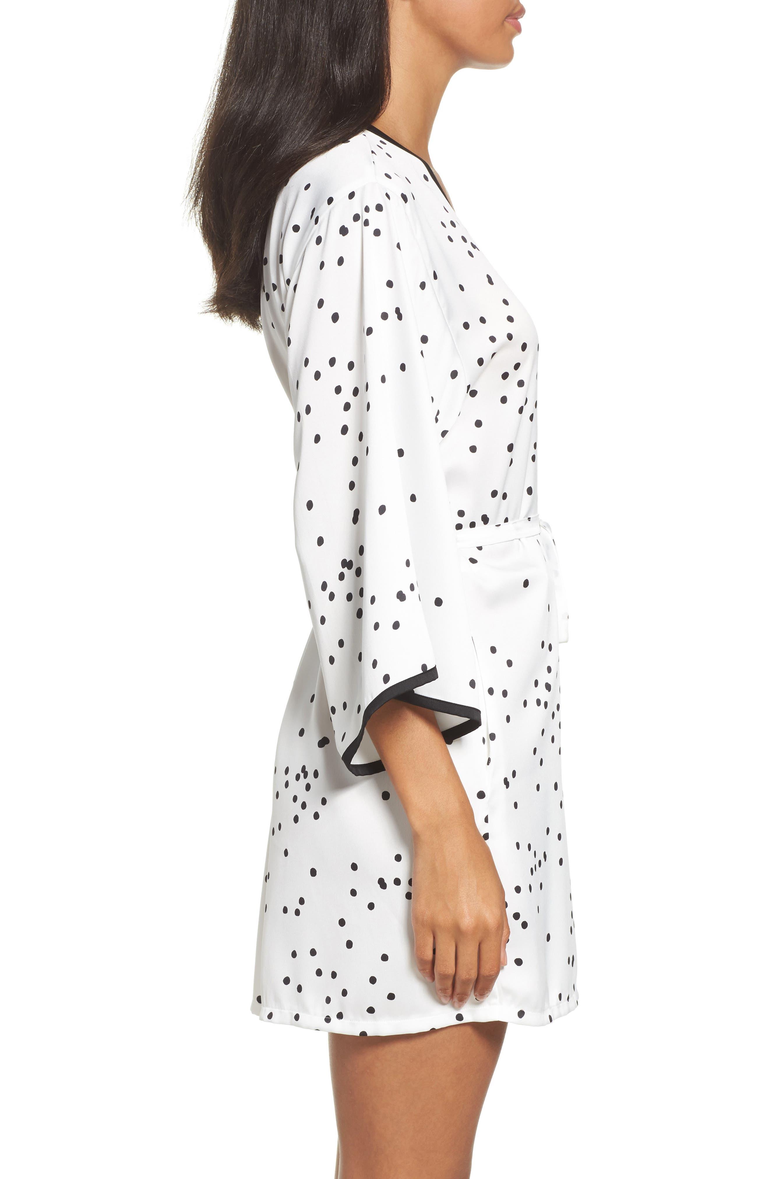 Alternate Image 3  - kate spade new york dot short robe