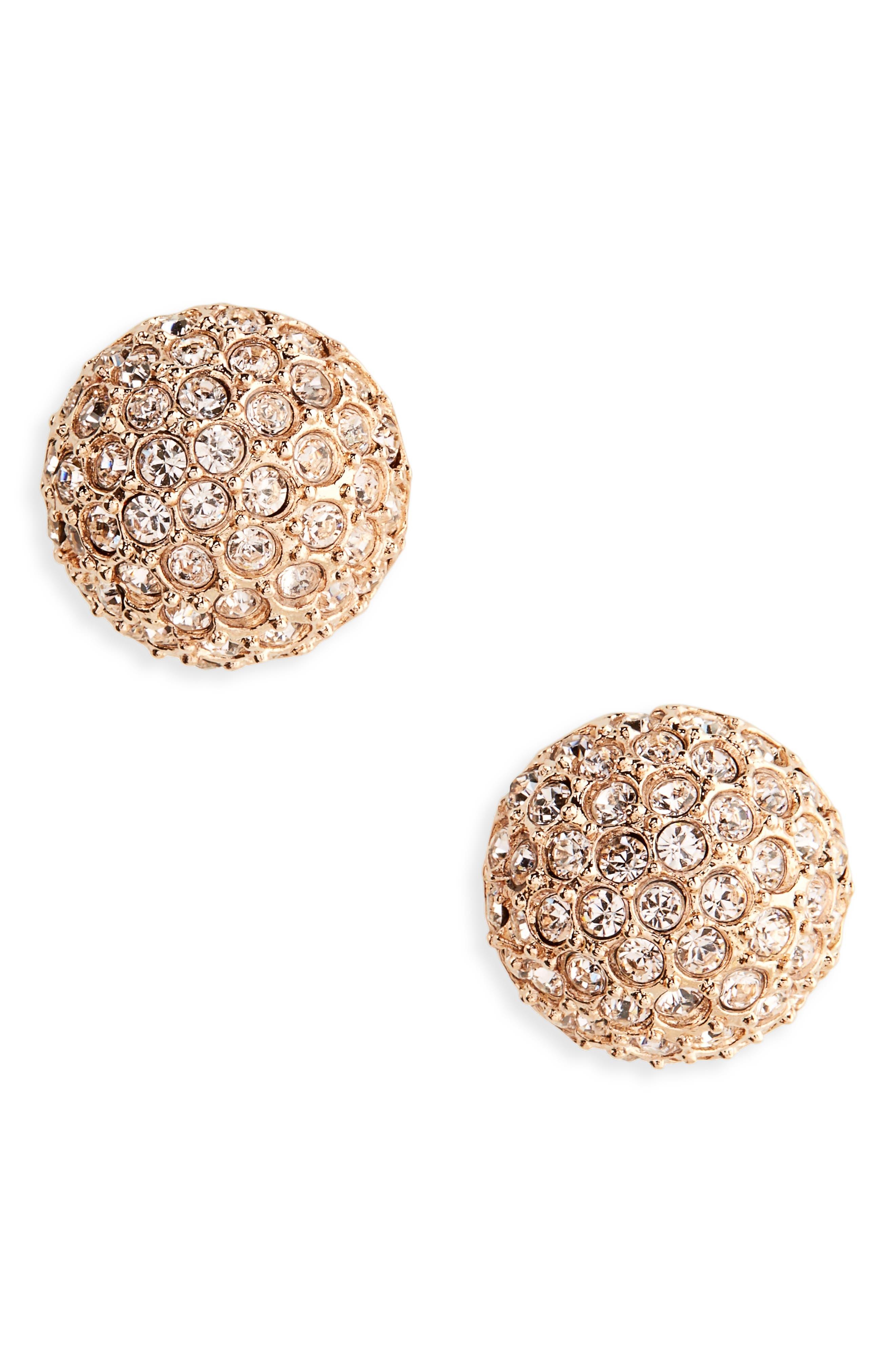Oscar de la Renta Dome Stud Earrings