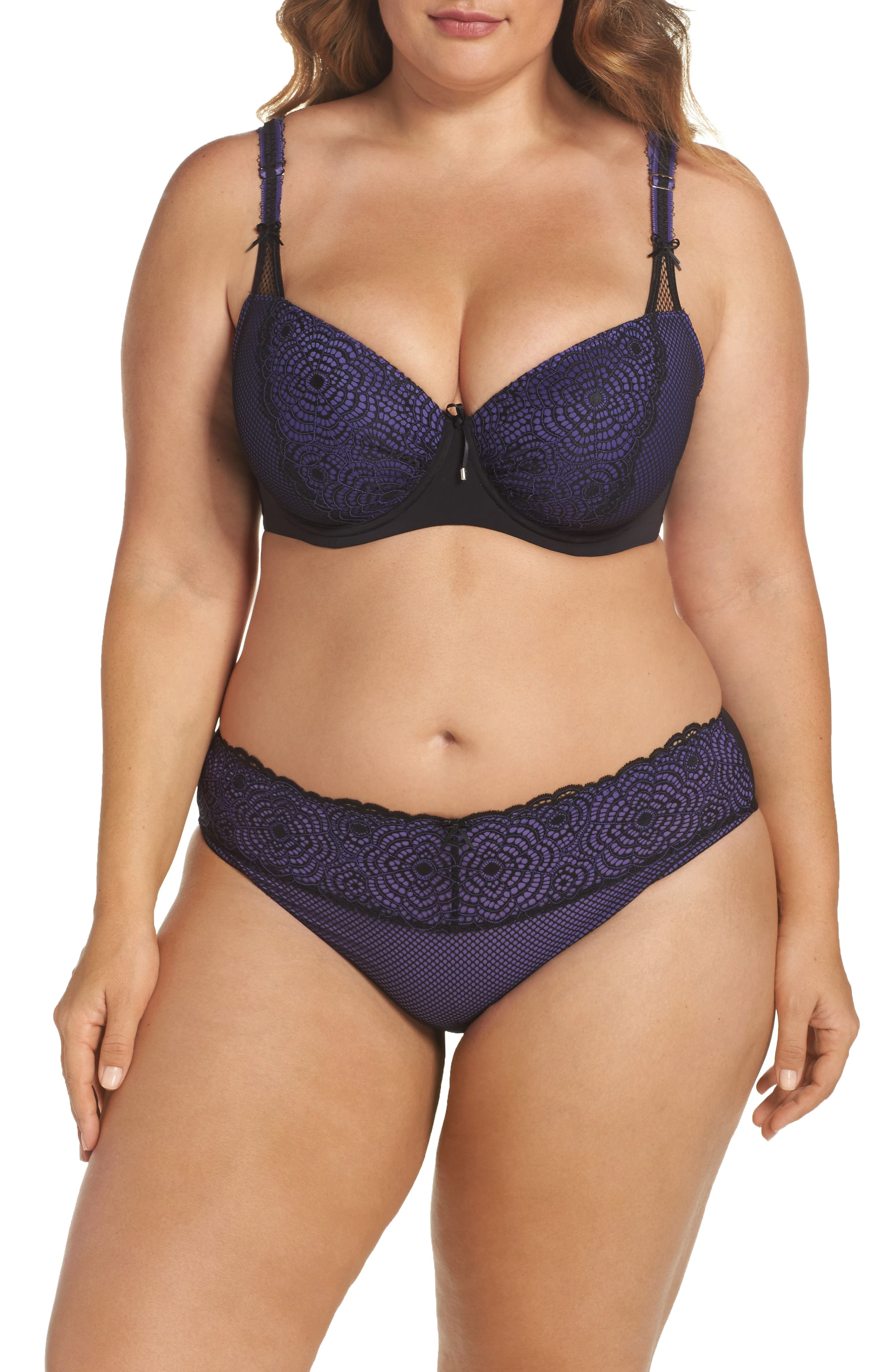 Ashley Graham Bra & Panties (Plus Size)