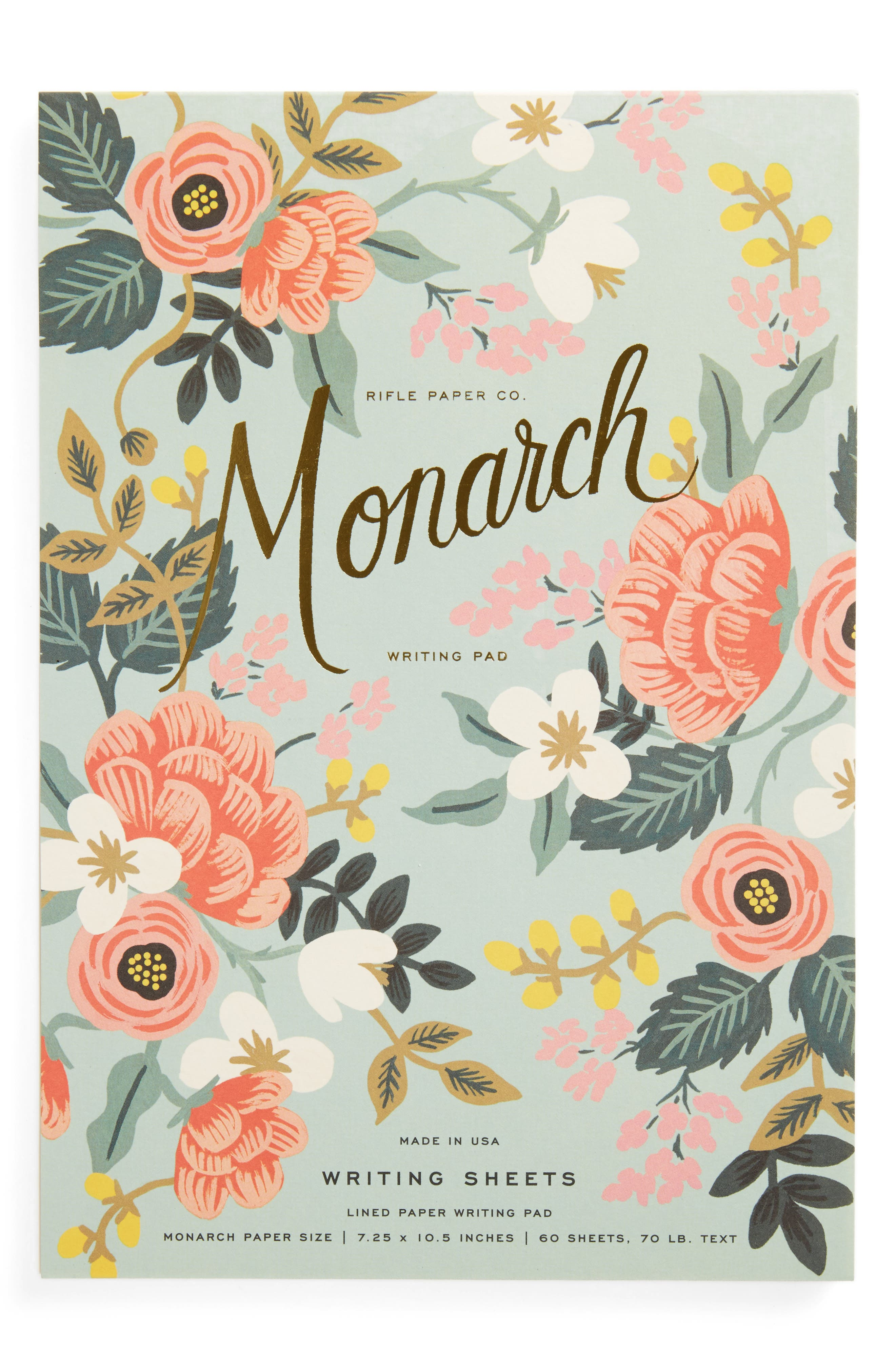Rifle Paper Co. Mint Birch Monarch Ruled Notepad