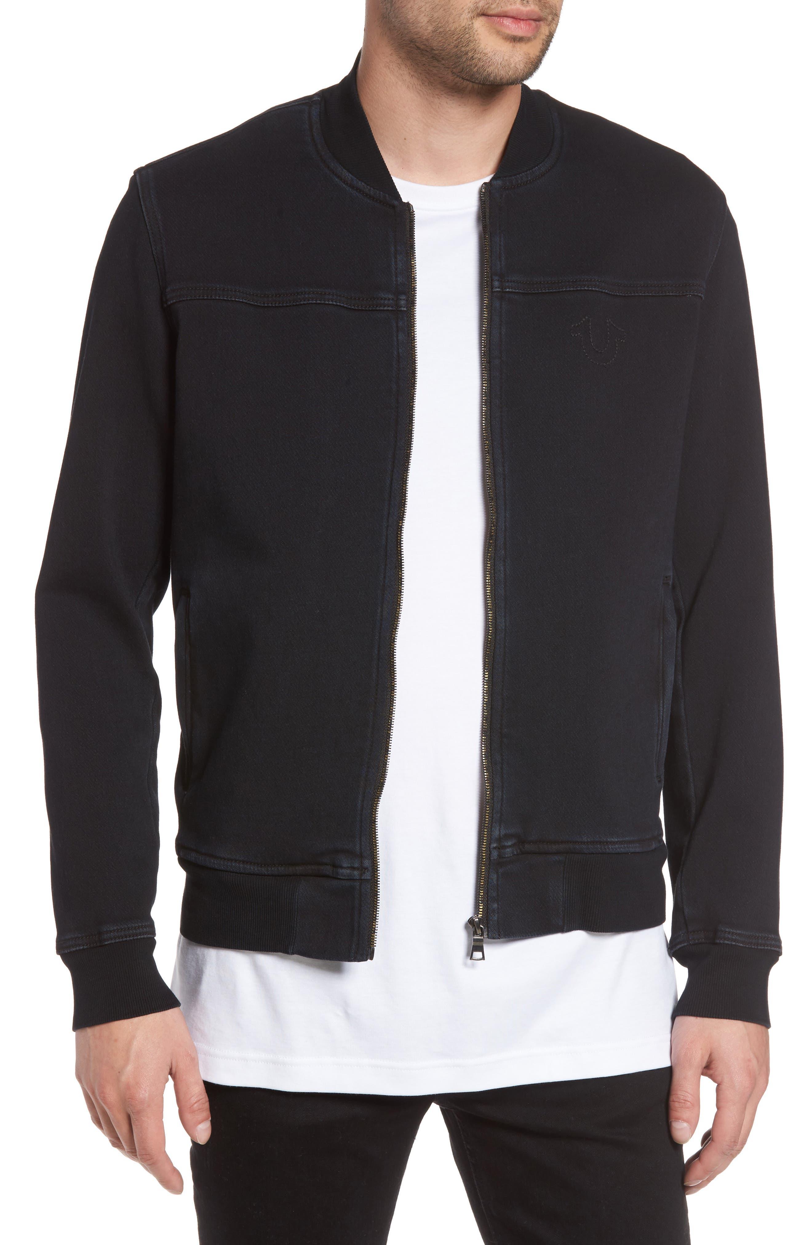 True Religion Brand Jeans Overdyed Bomber Jacket