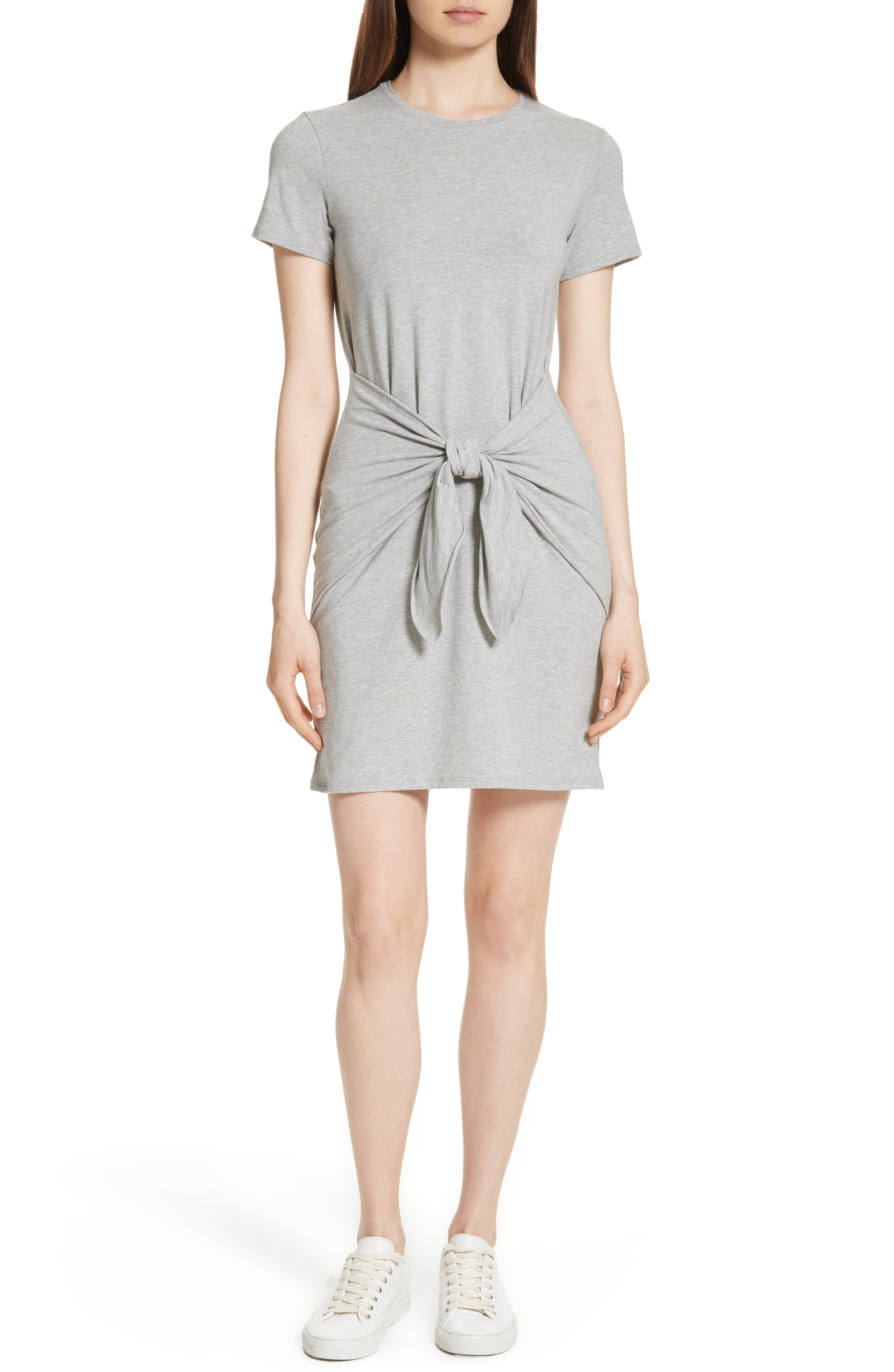 Theory Dakui Rubric Tie Front Dress