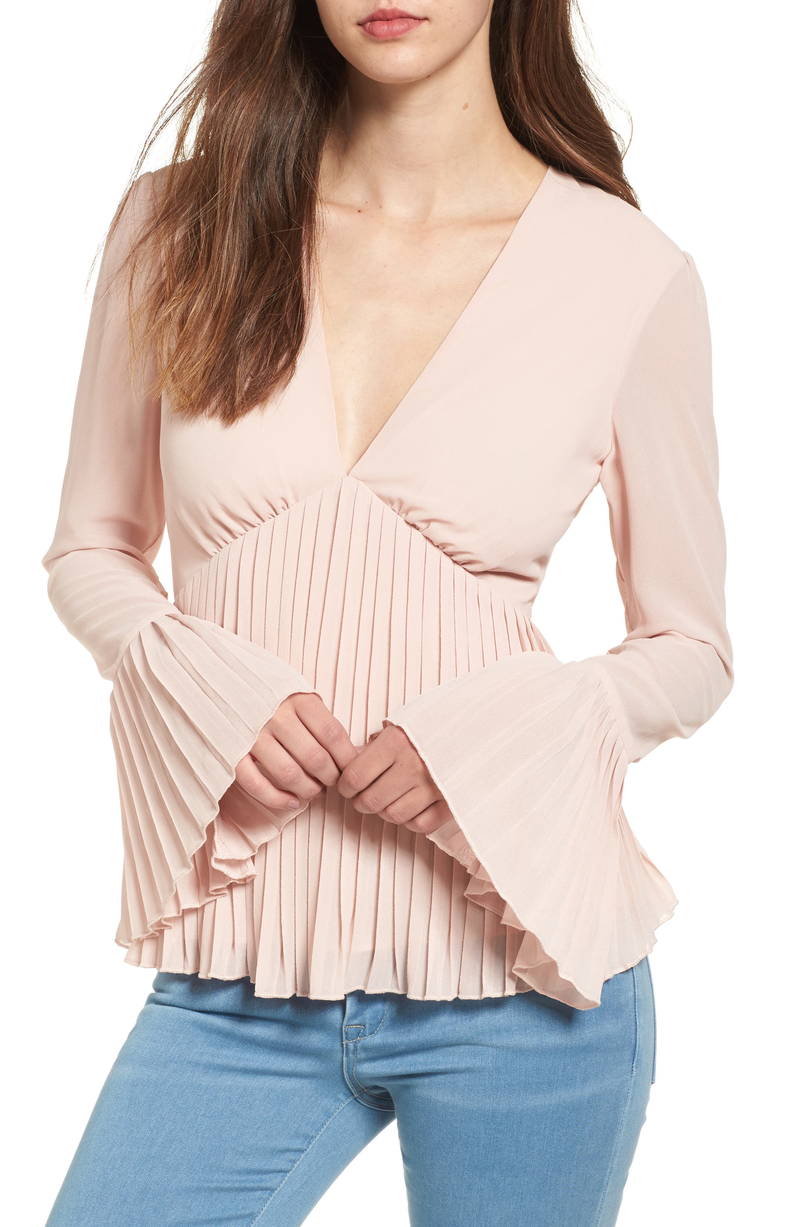Lovers + Friends Fain Bell Sleeve Top