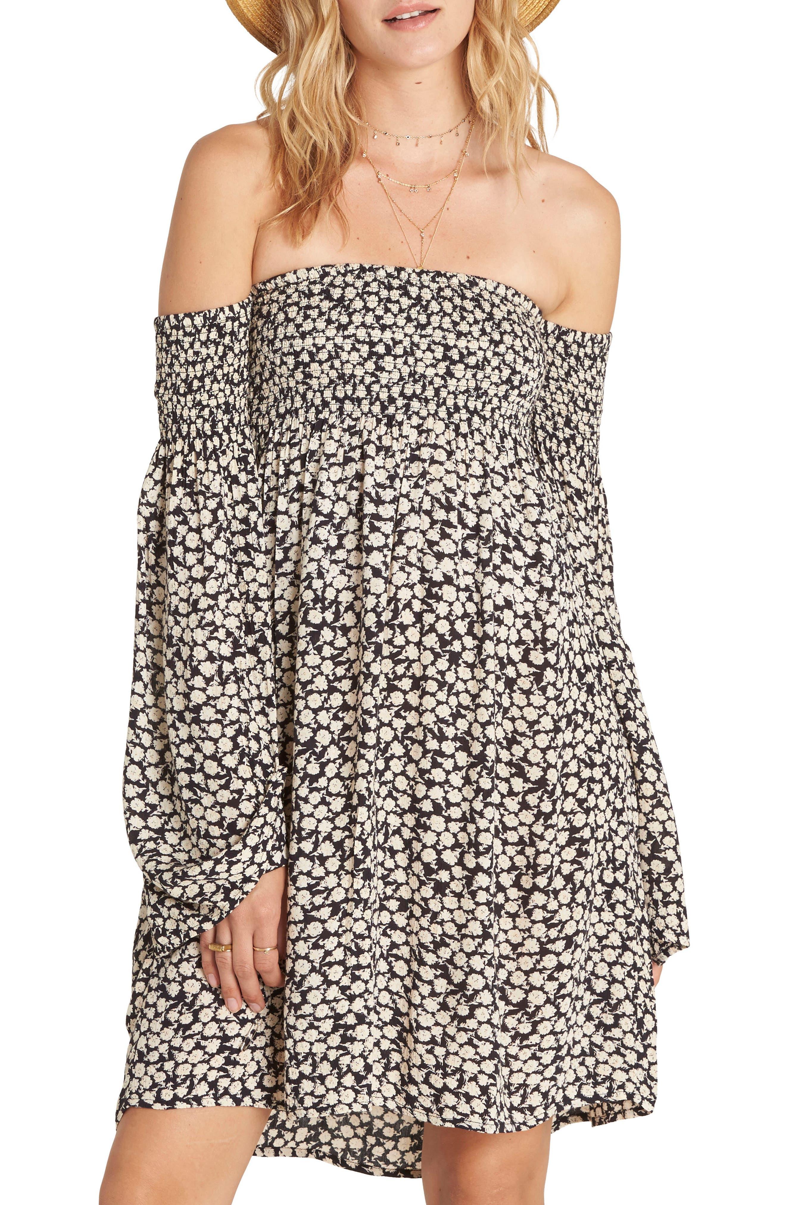 Billabong Night Fox Off the Shoulder Dress