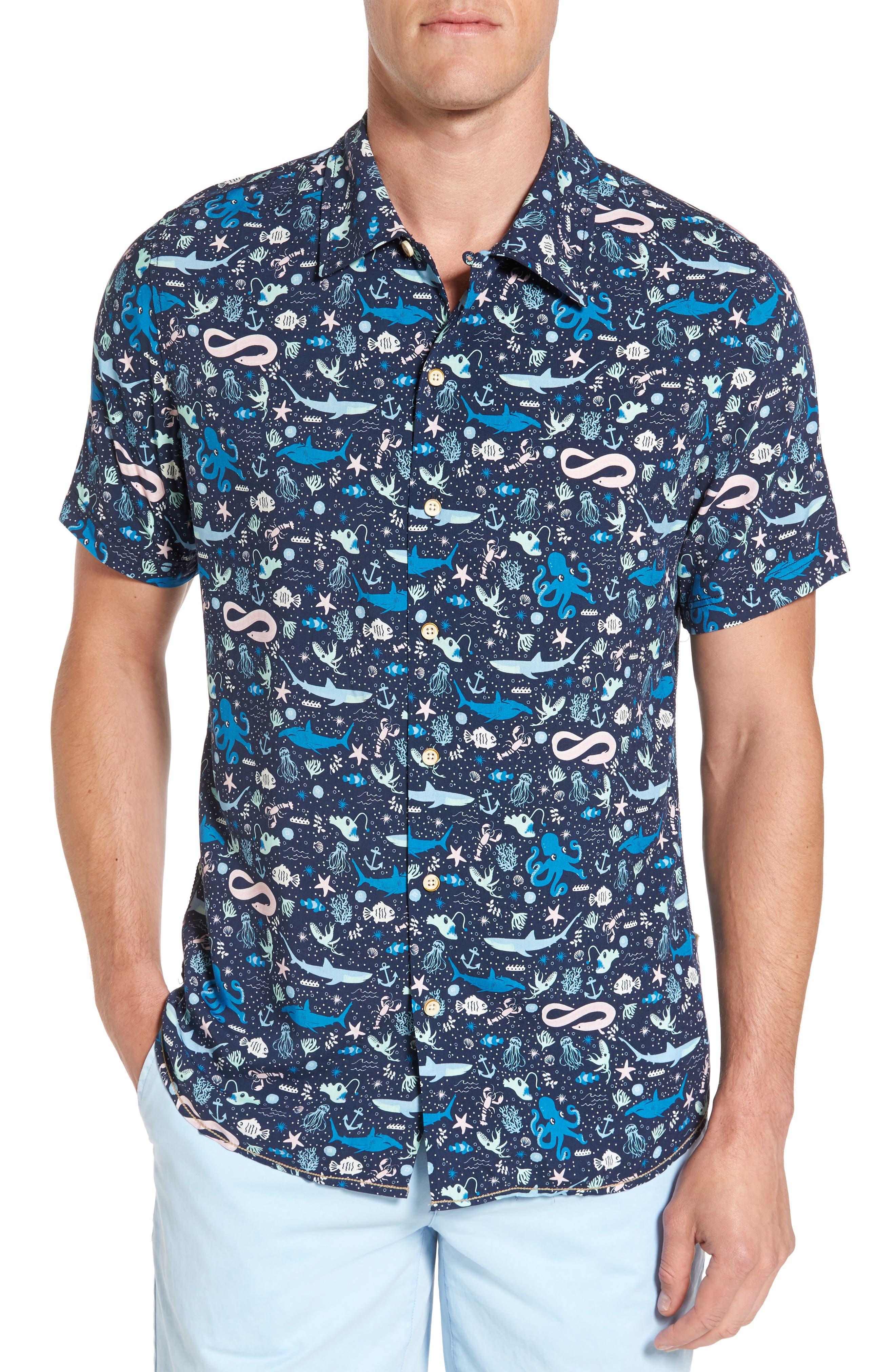 Surfside Supply Fish Print Rayon Shirt