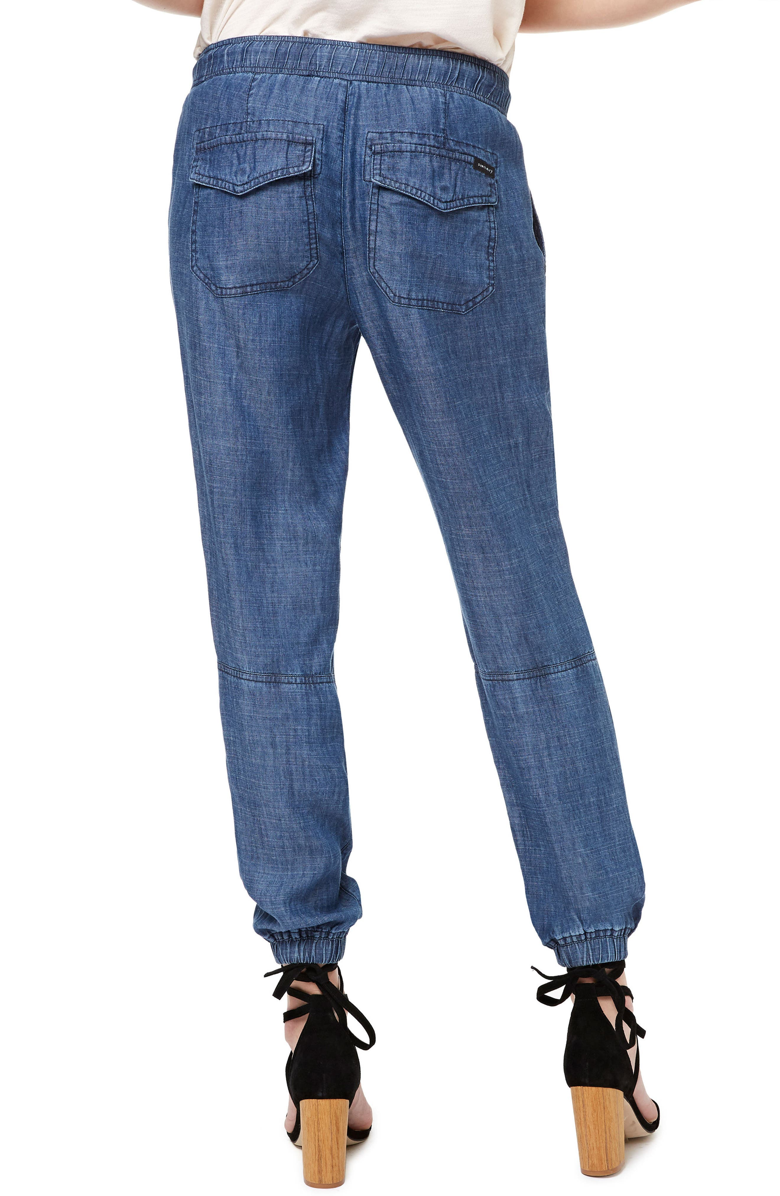 Alternate Image 2  - Sanctuary Chambray Jogger Pants