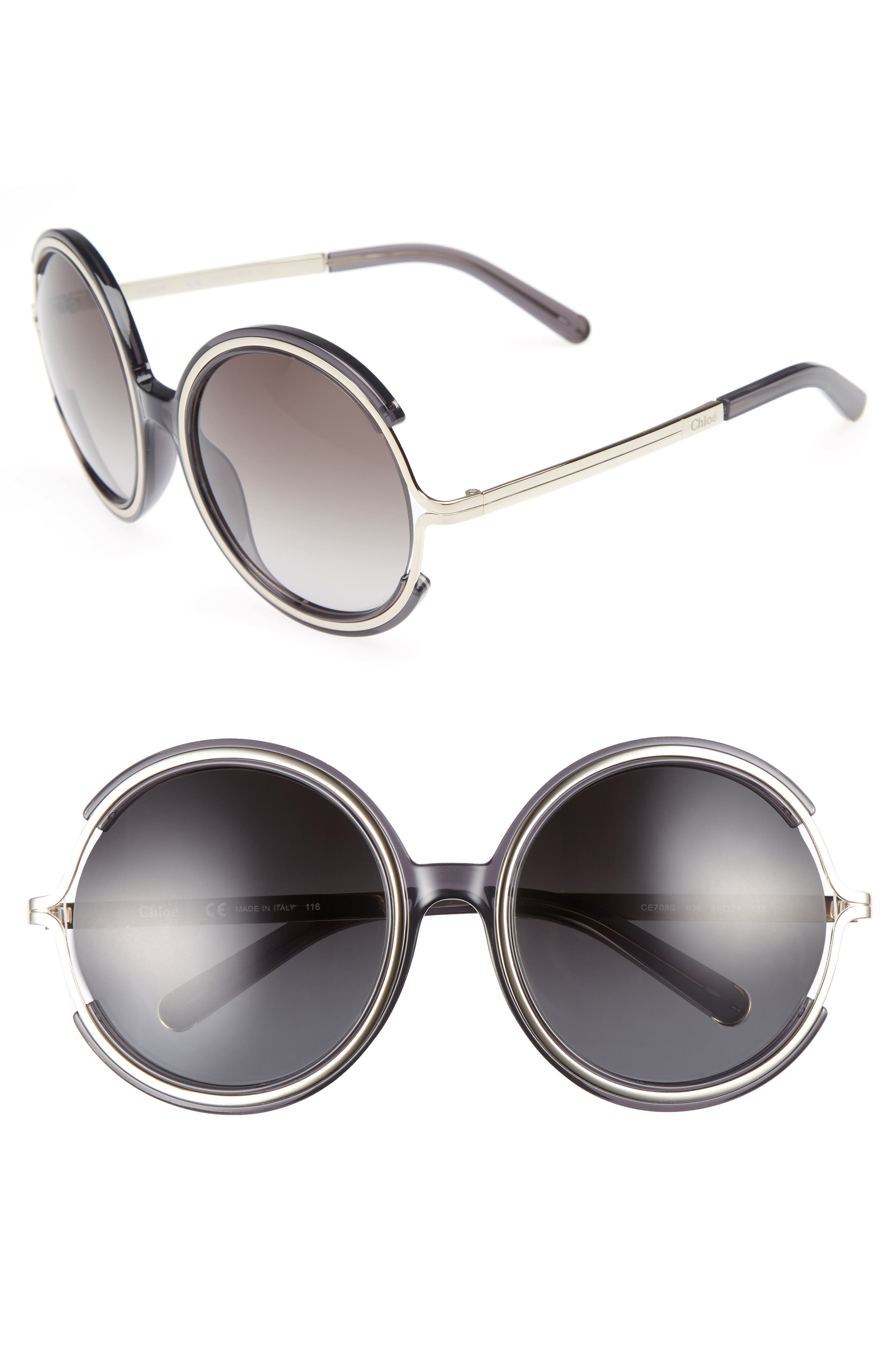 Chloé Jayme 58mm Round Sunglasses