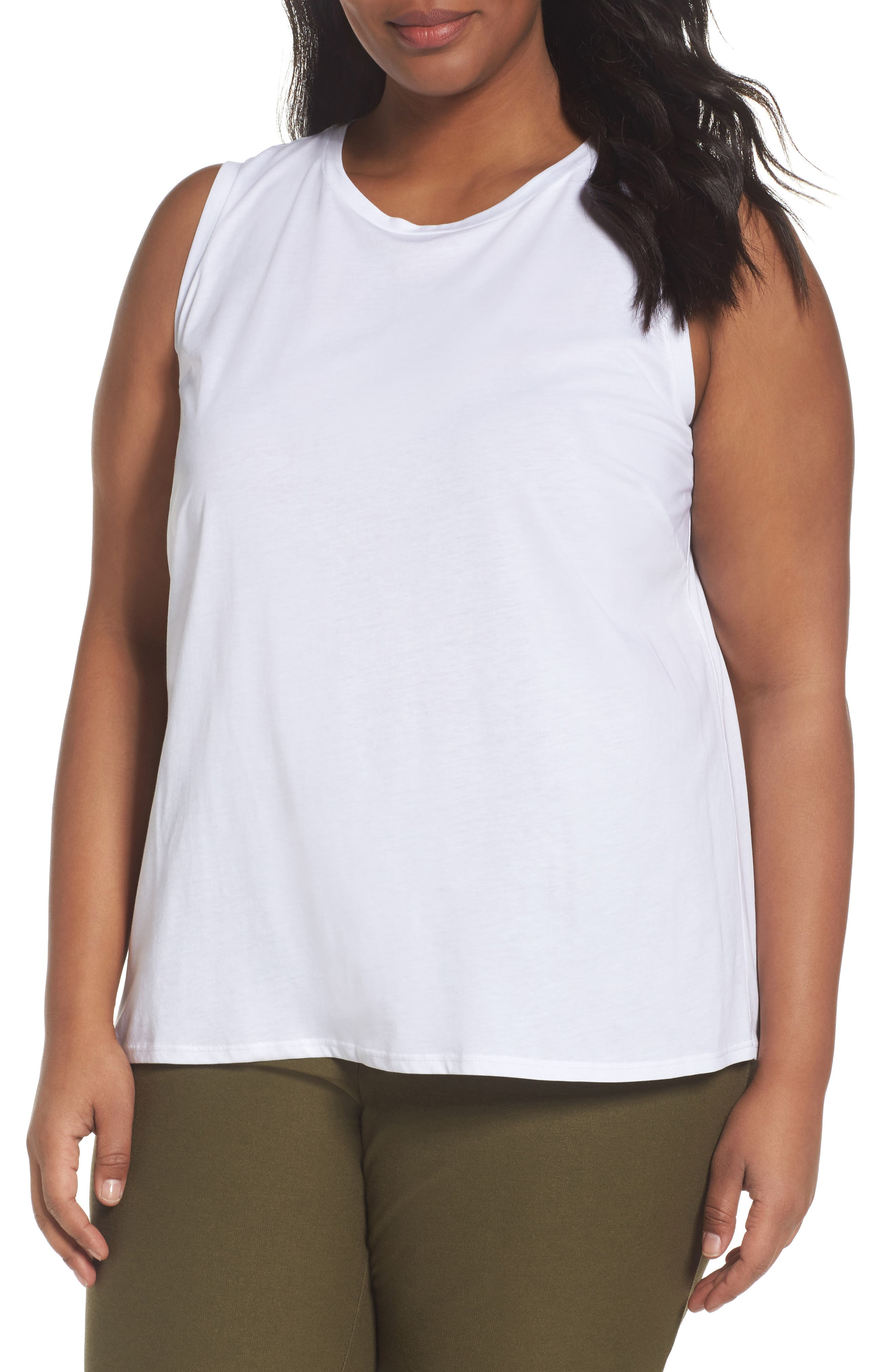 Eileen Fisher Organic Cotton Shell (Plus Size)